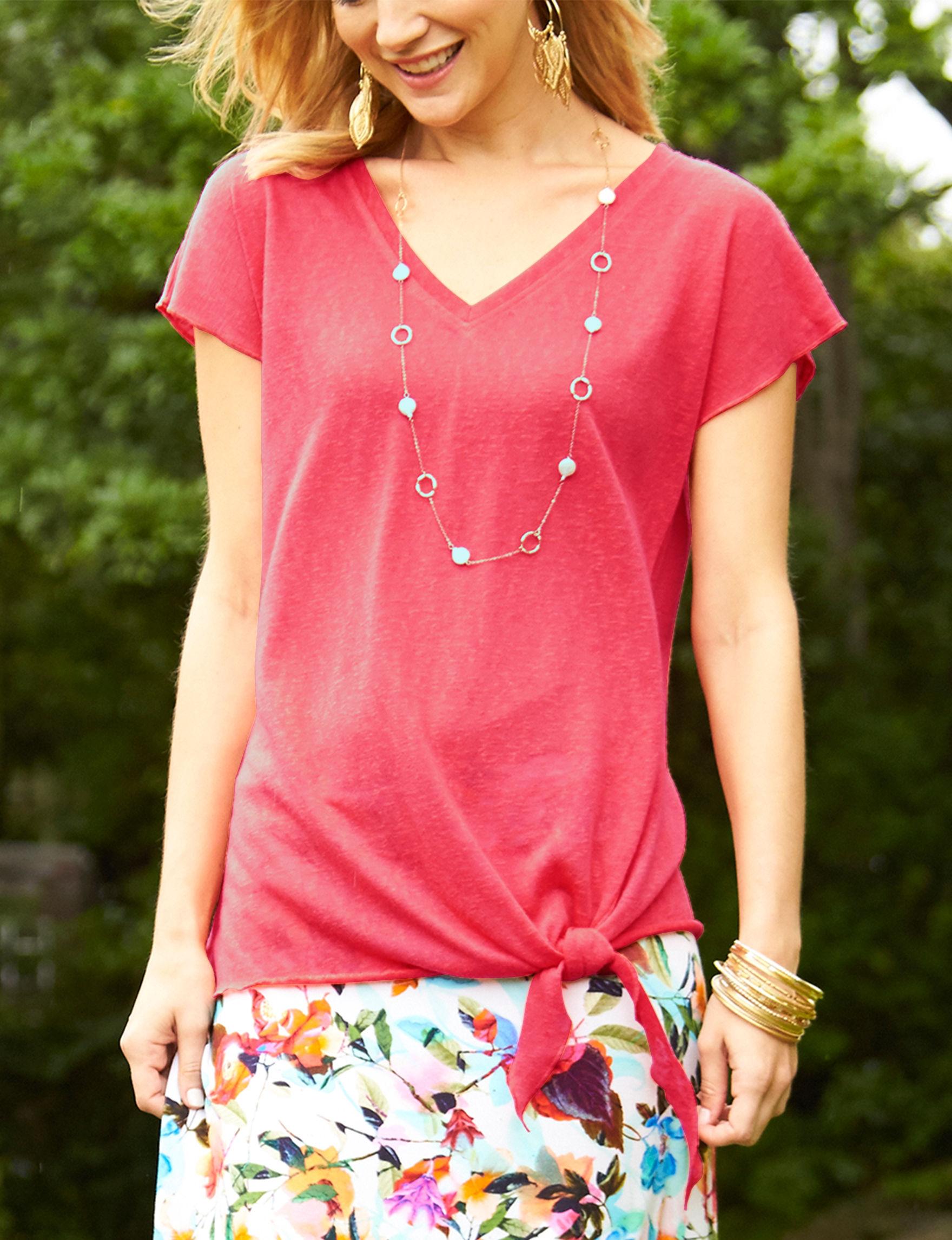 Hannah Red Shirts & Blouses