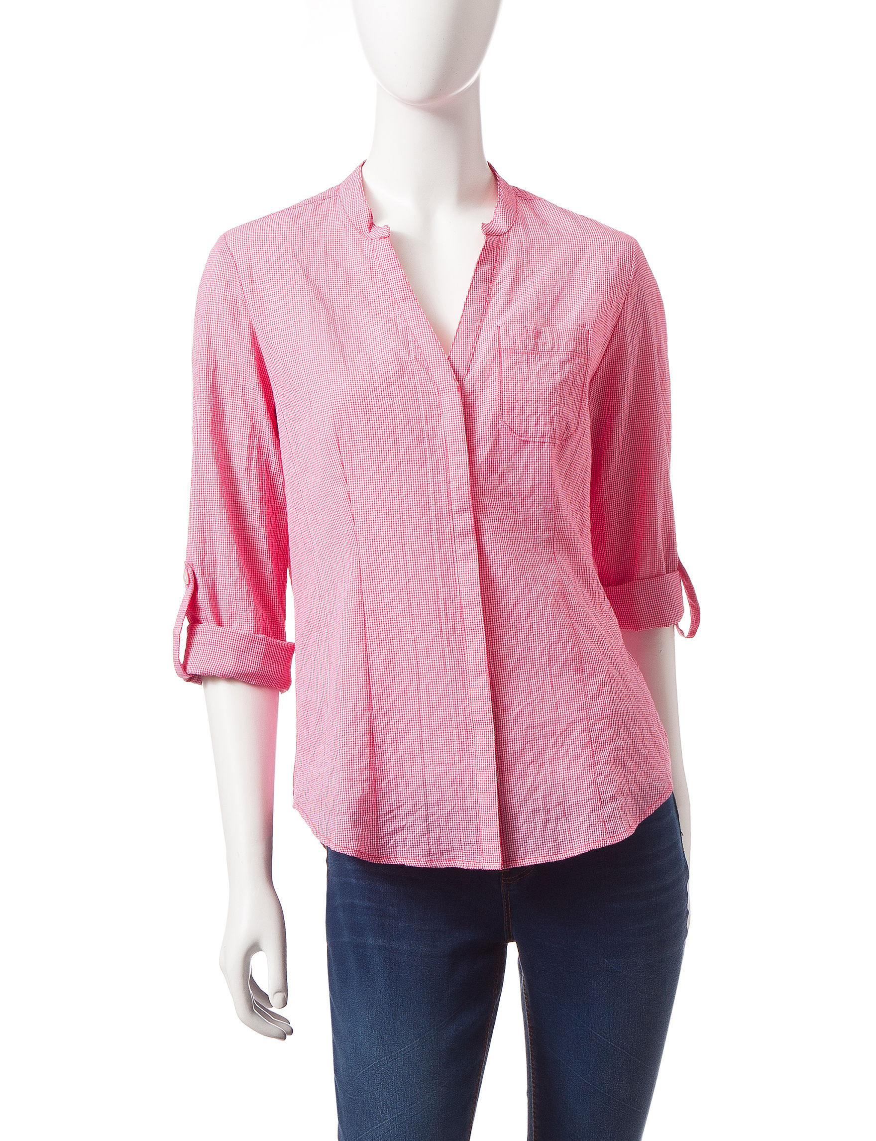 Dockers Red Shirts & Blouses