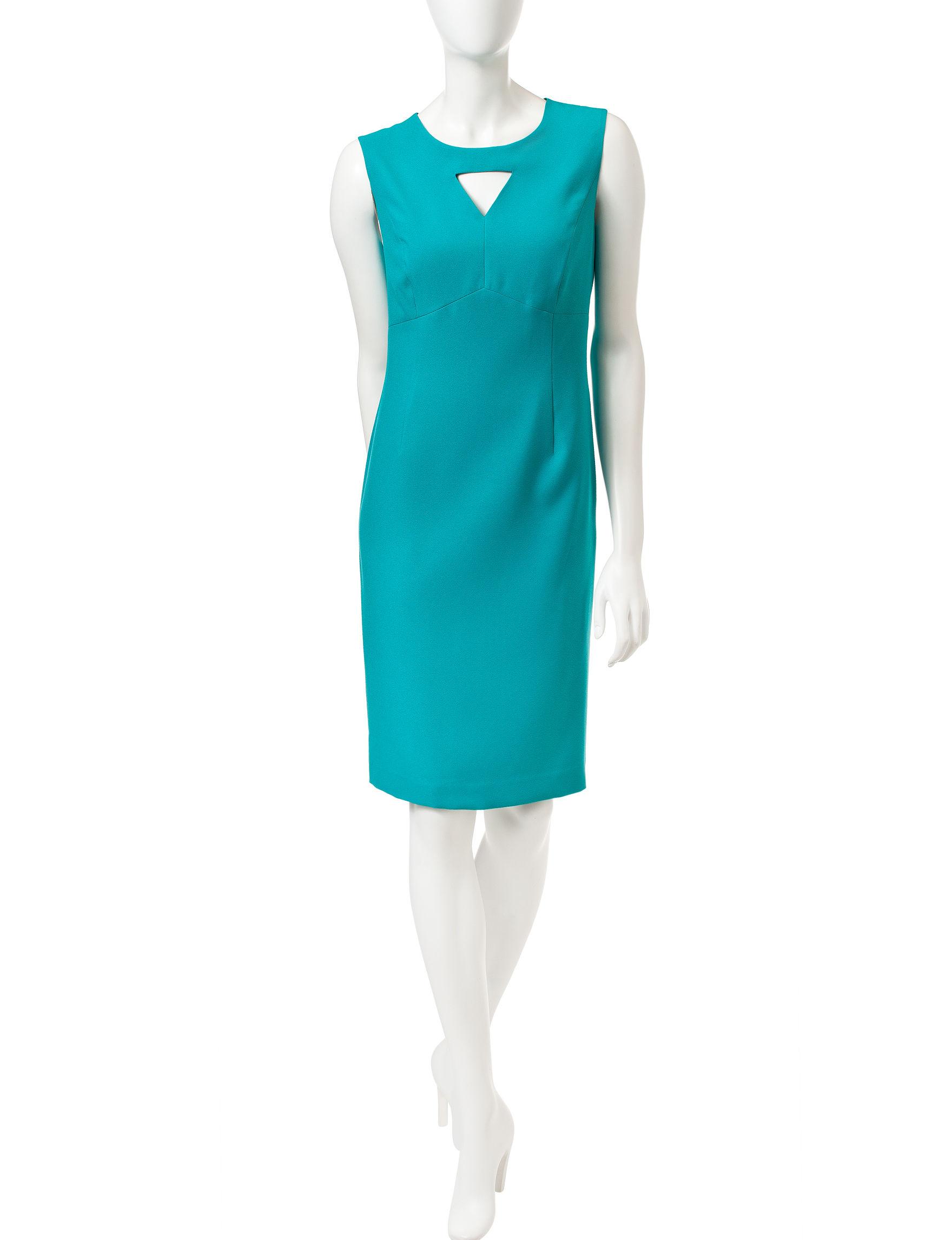 Kasper Blue Shift Dresses