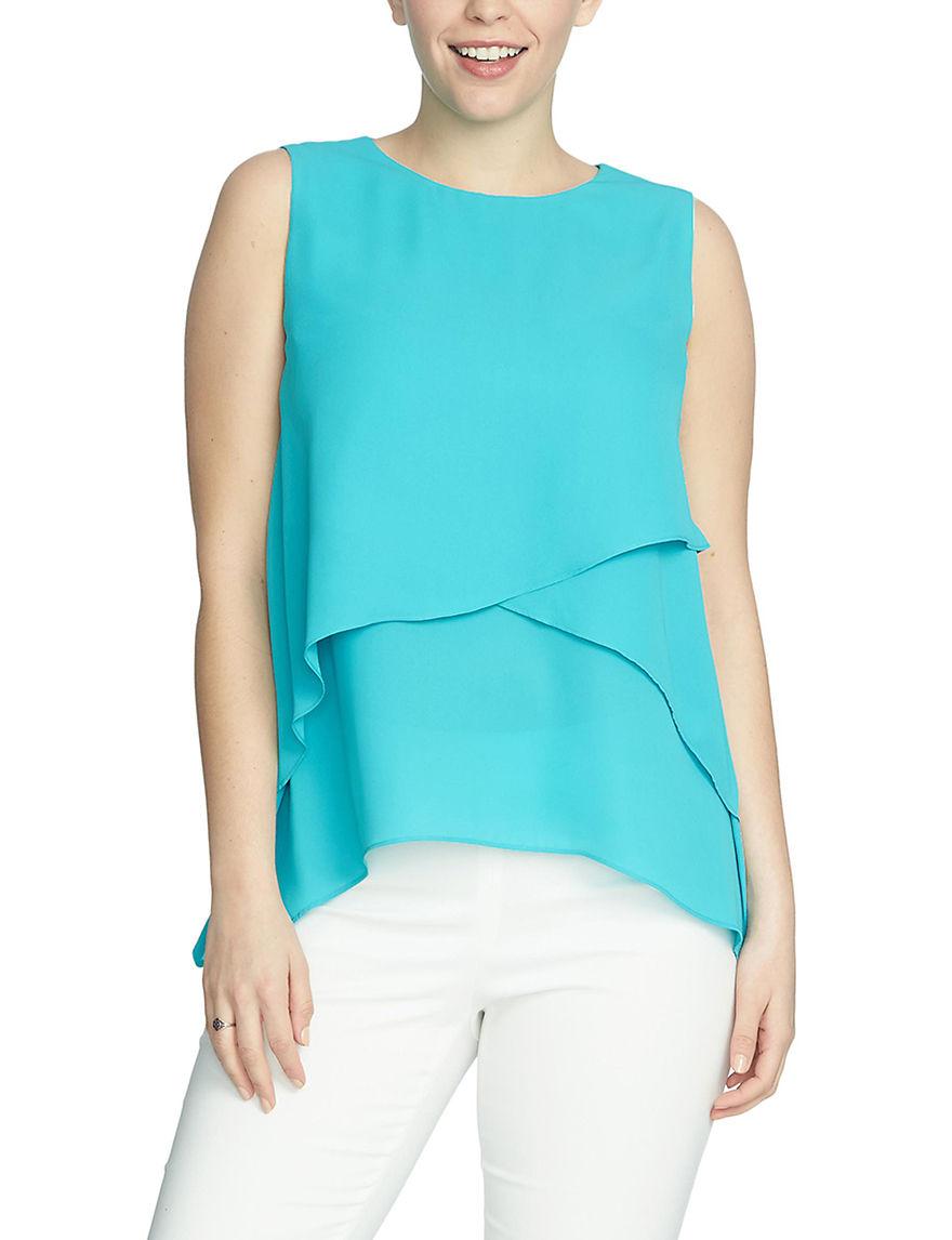 Chaus Blue Shirts & Blouses