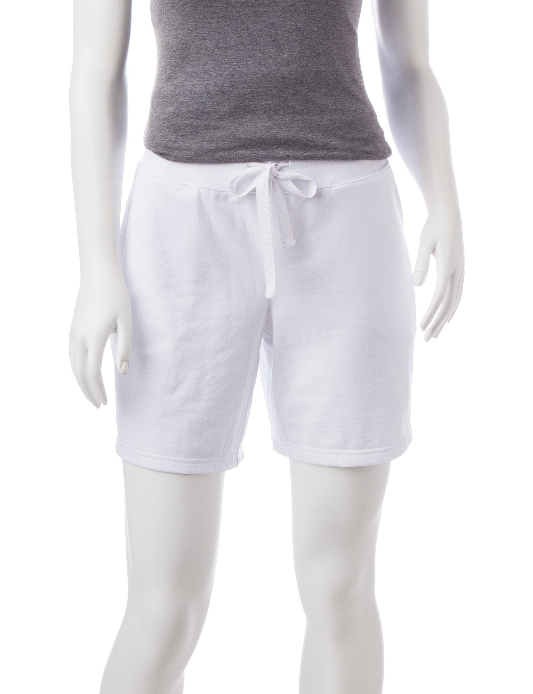 Silverwear White Soft Shorts