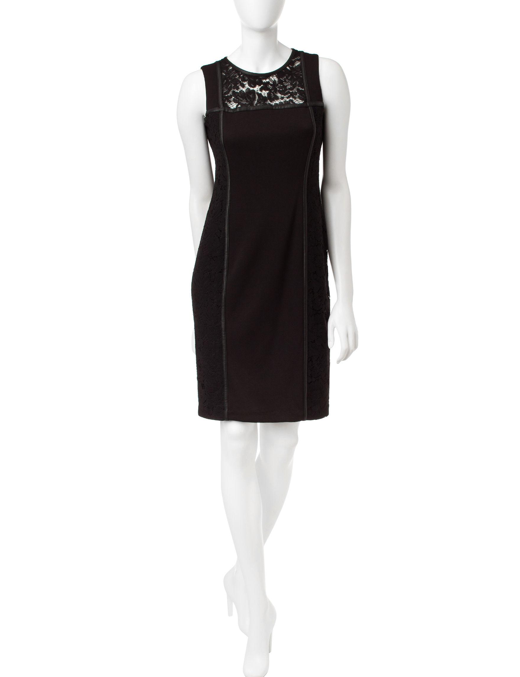 Calvin Klein Black Sheath Dresses