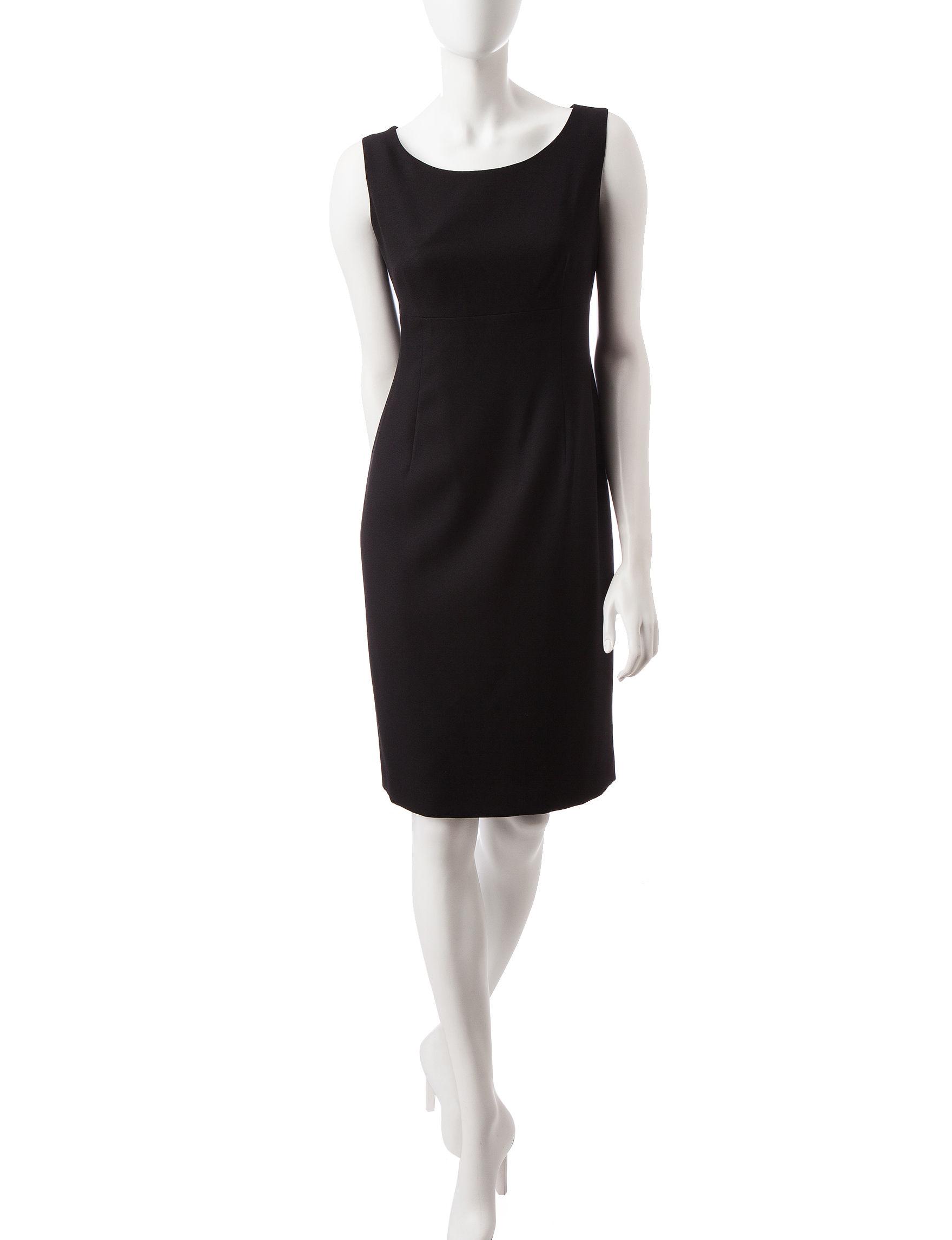 Kasper Black Cocktail & Party Sheath Dresses