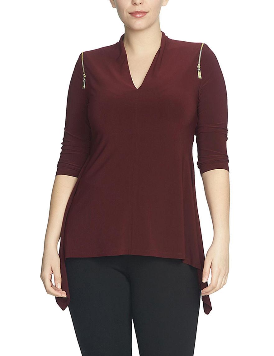 Chaus Burgundy Shirts & Blouses
