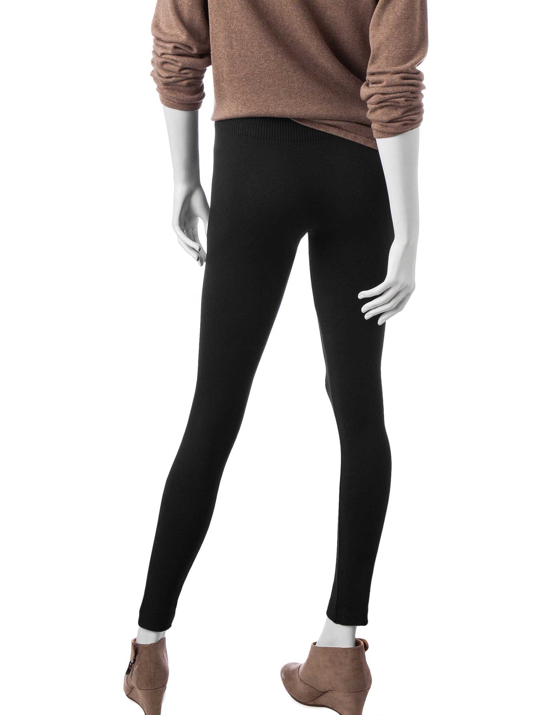 a34d8120389397 One 5 One Women's Textured Fleece Lined Leggings | Stage Stores