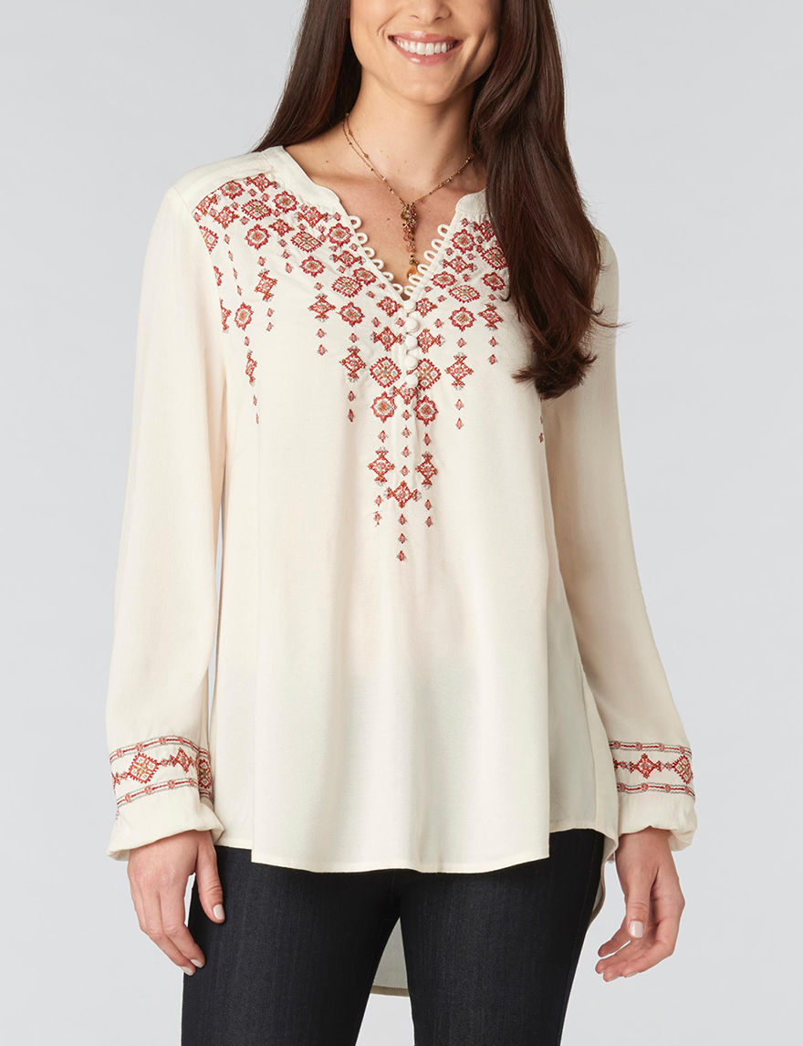 Democracy Ivory Shirts & Blouses Strapless