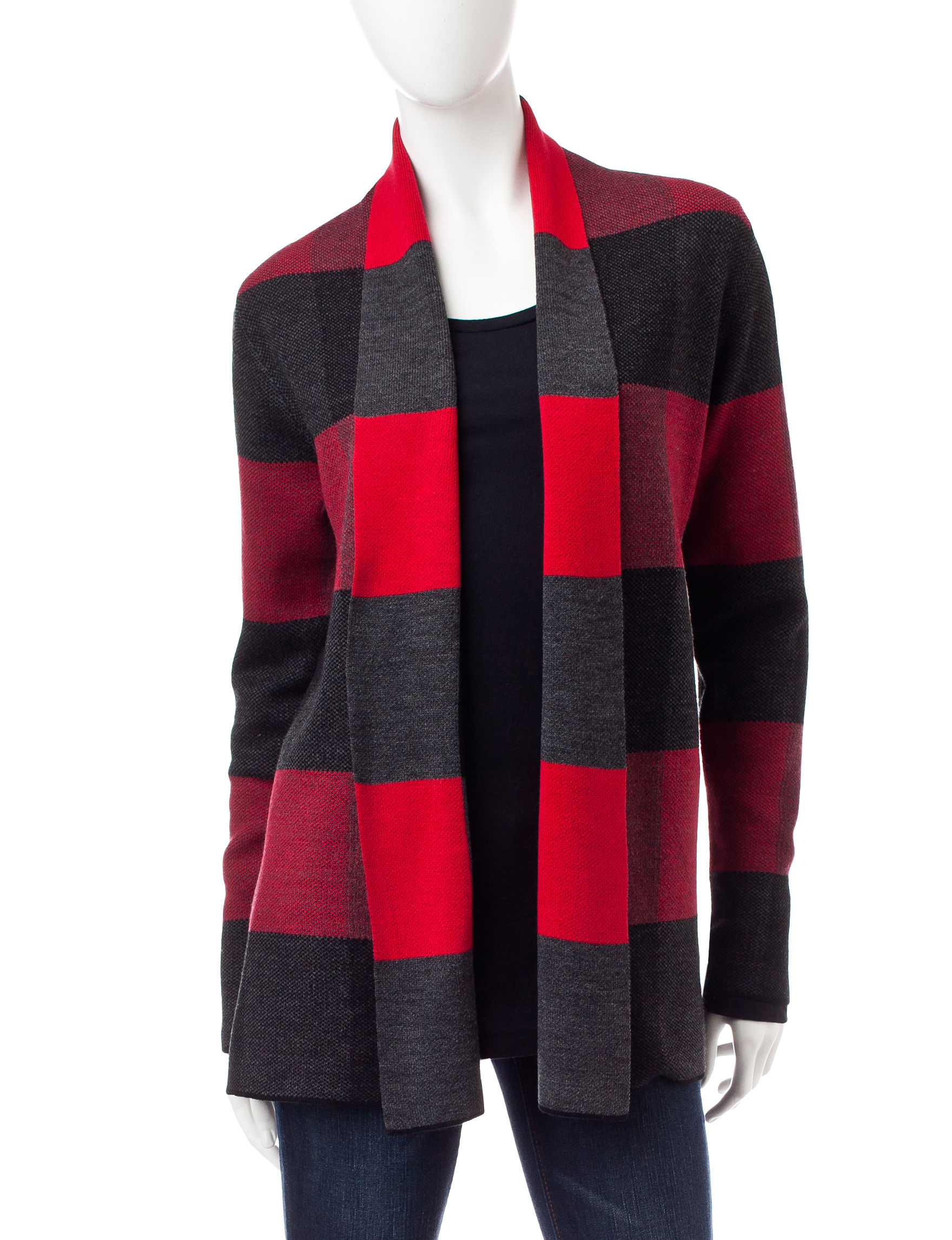Hannah Red Combo Cardigans