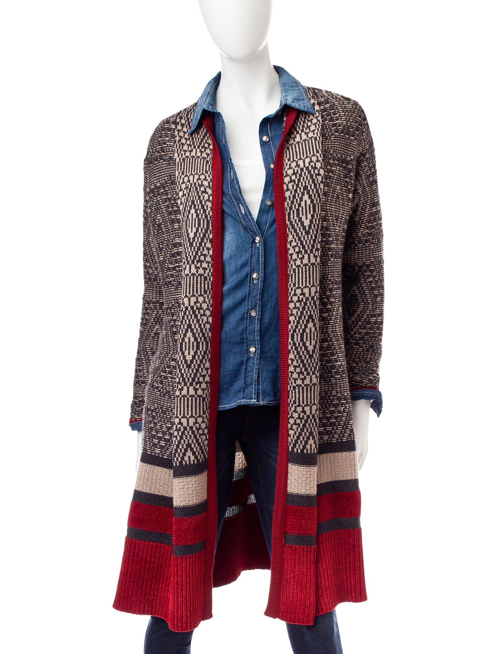Hannah Black / Red Cardigans