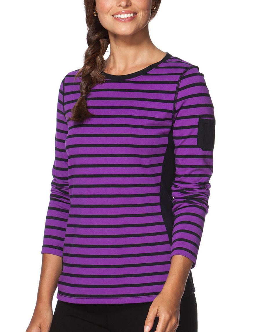 Chaps Purple / Black Shirts & Blouses