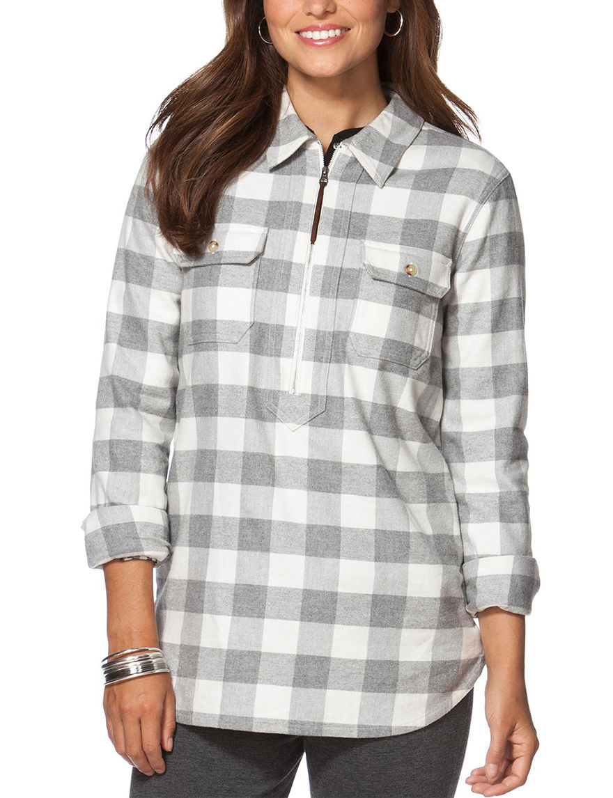 Chaps Grey Shirts & Blouses