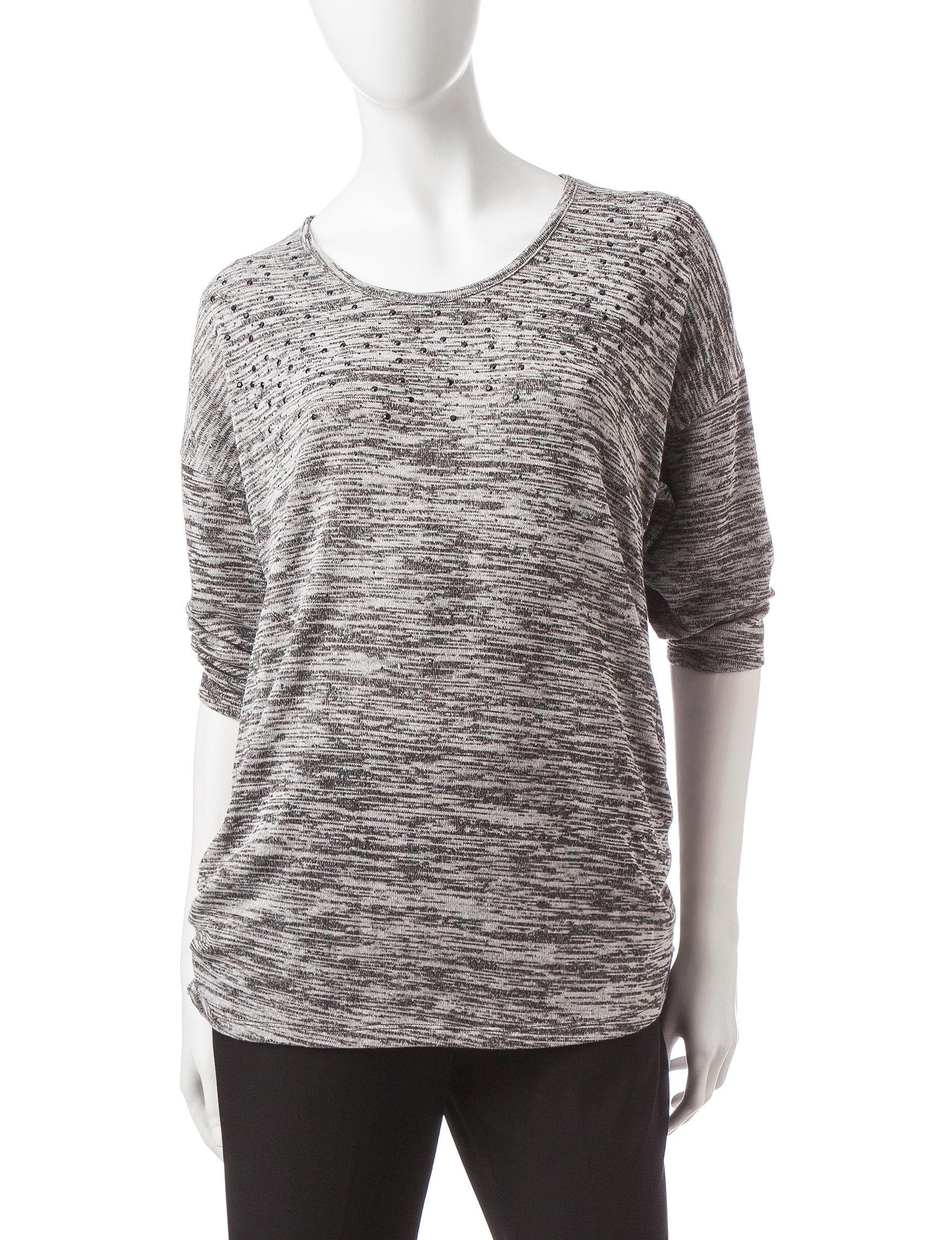 Rebecca Malone Grey Shirts & Blouses