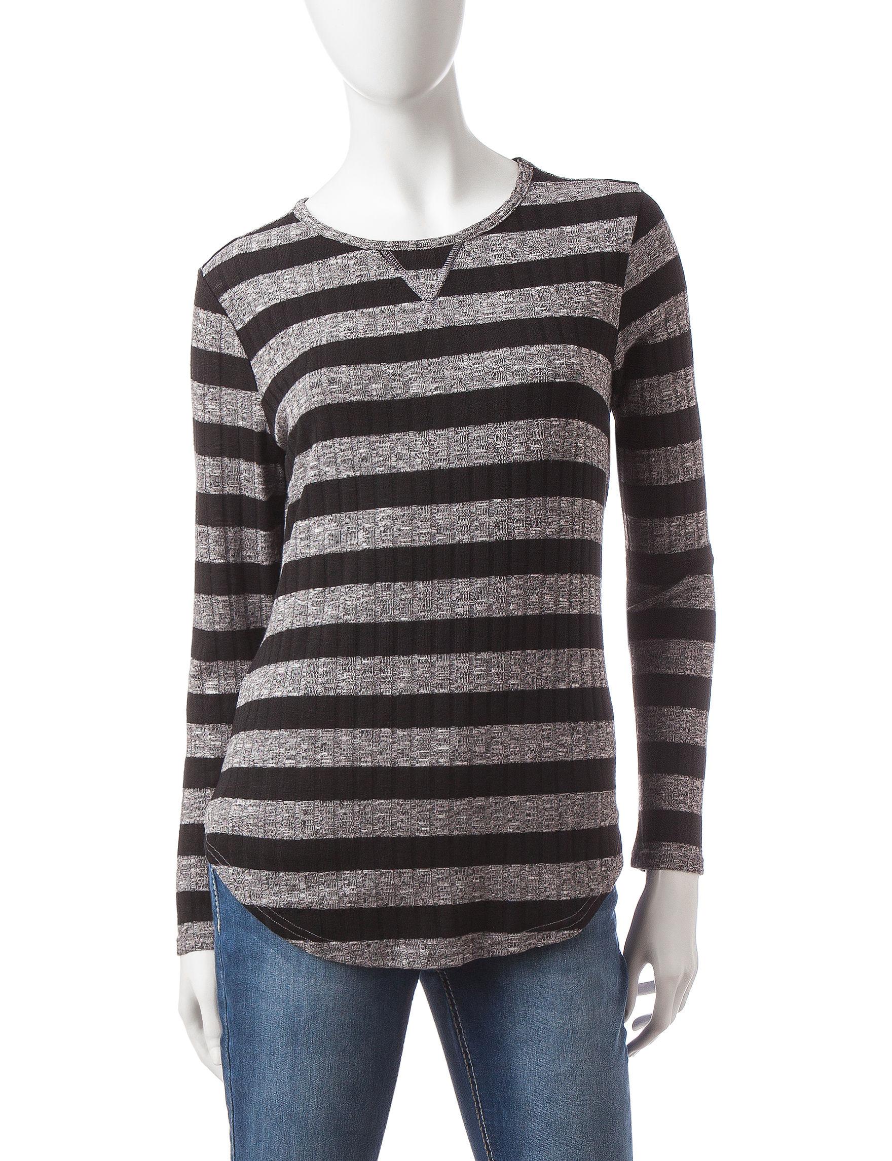 Rebecca Malone Grey / Black Shirts & Blouses