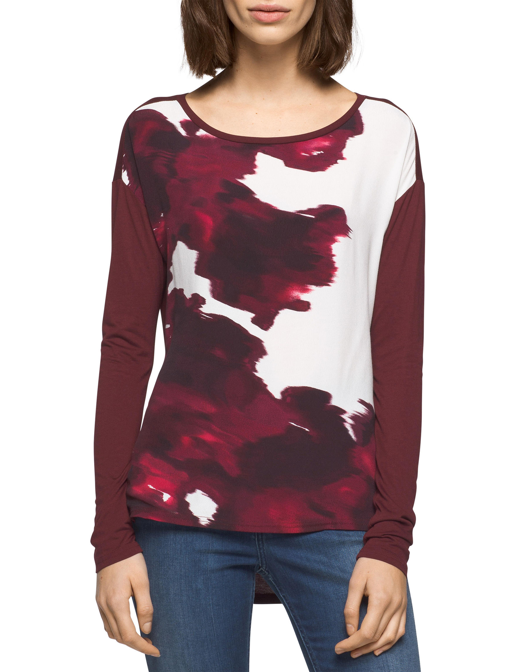 Calvin Klein Jeans Red Shirts & Blouses
