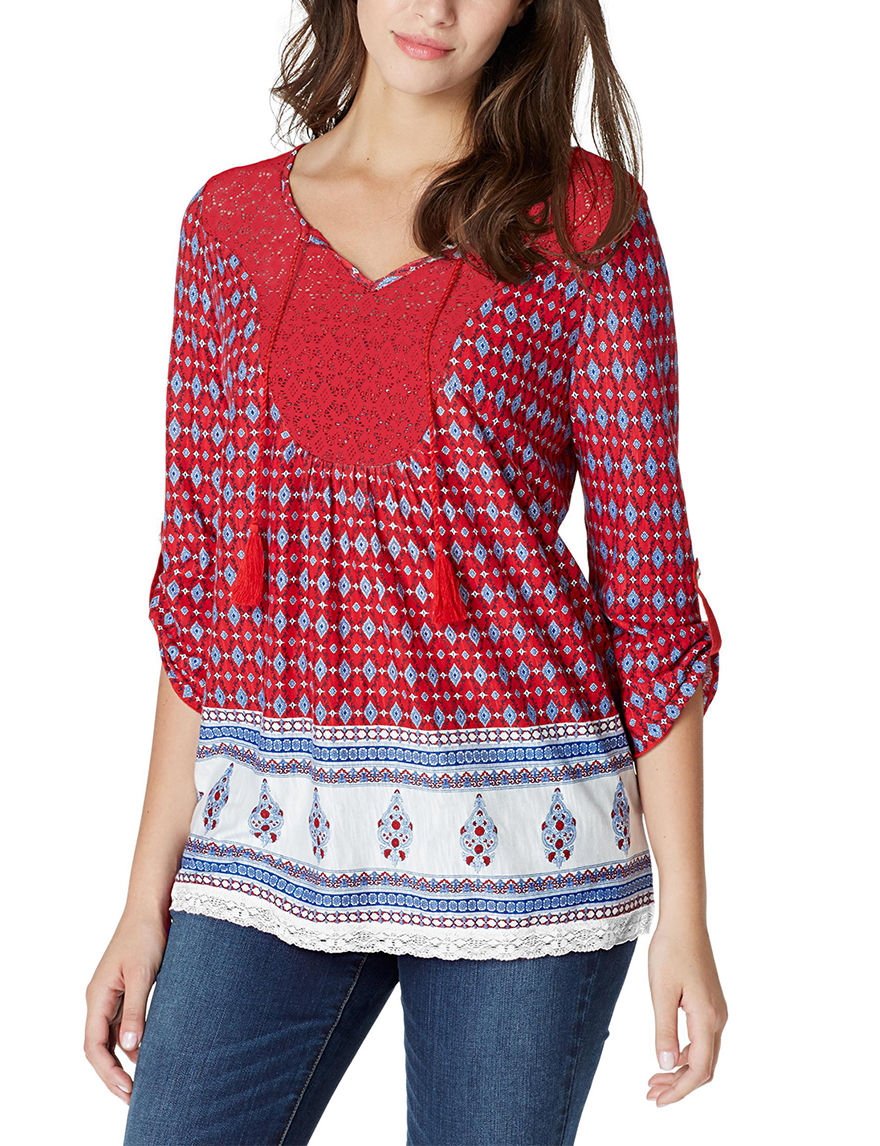 Vintage America Blues Red Shirts & Blouses