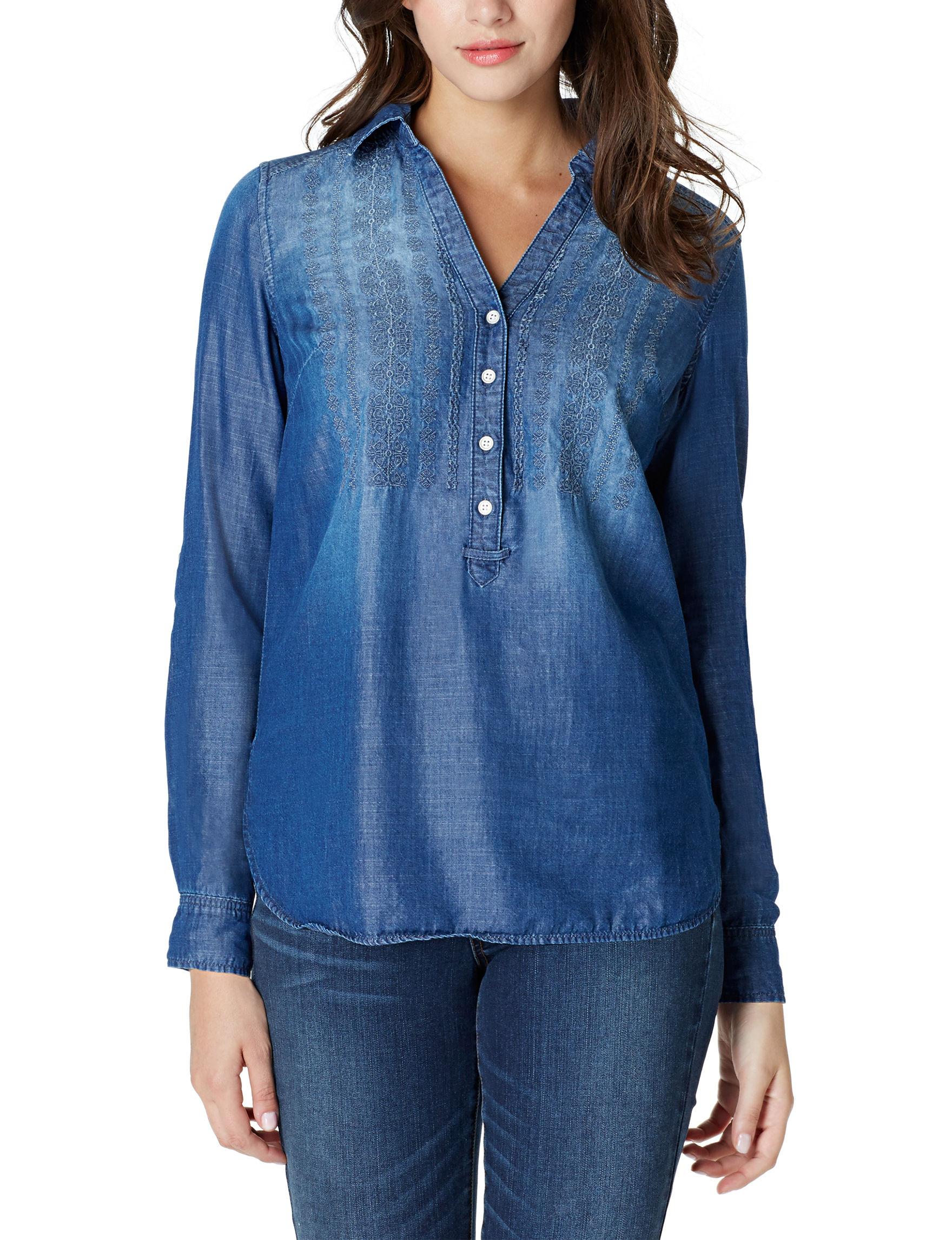 Vintage America Blues Blue Shirts & Blouses