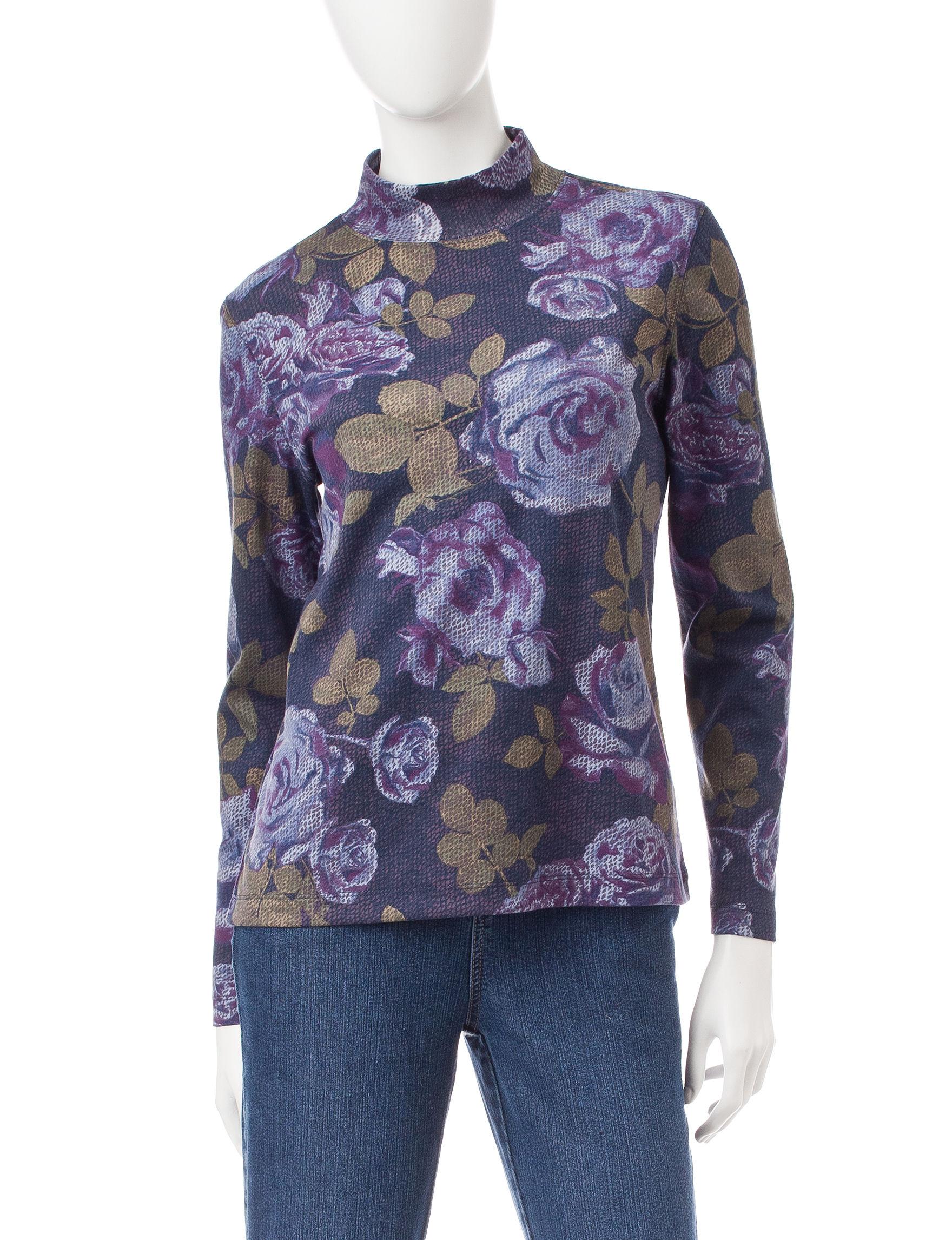 Rebecca Malone purple/blue Shirts & Blouses