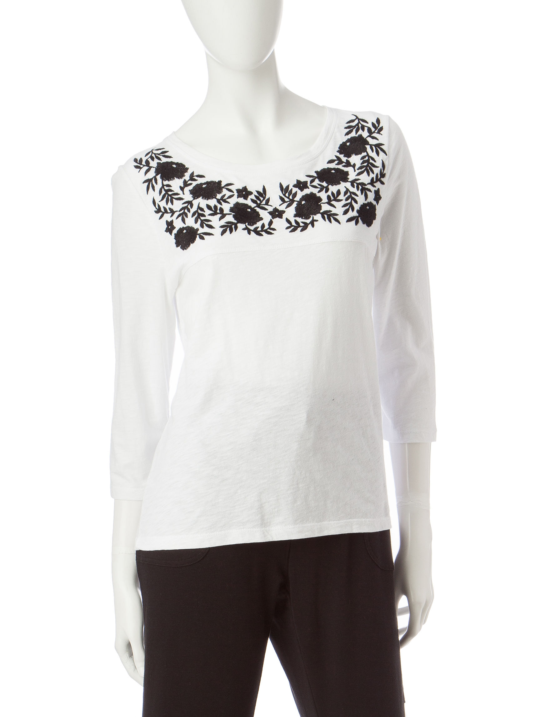 Onque Casuals White Shirts & Blouses