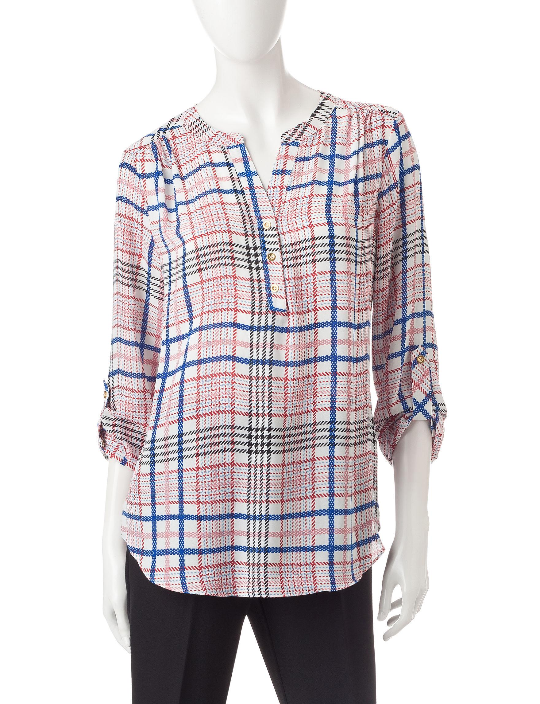 Zac & Rachel White / Pink Shirts & Blouses