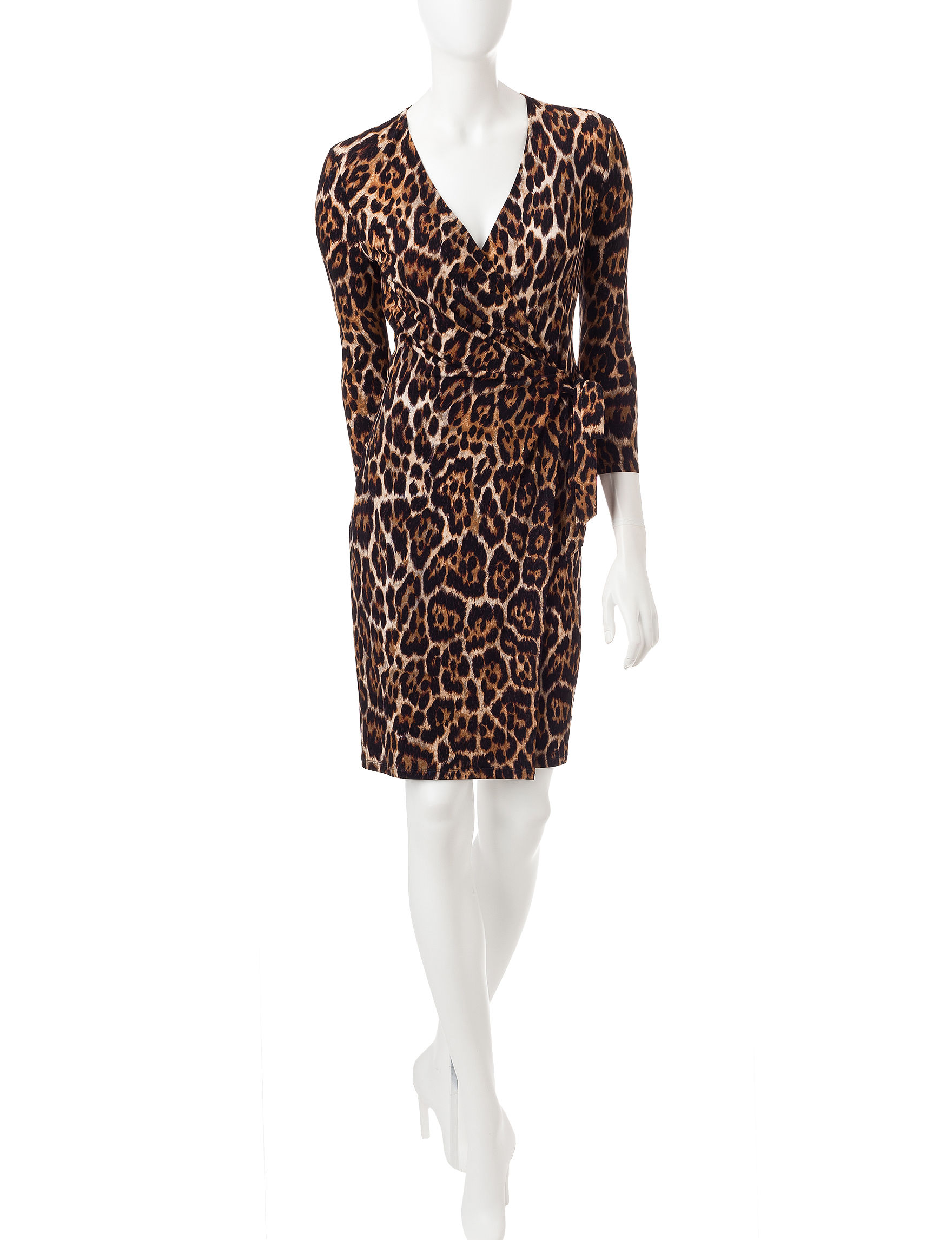 Anne Klein Beige Everyday & Casual Fit & Flare Dresses