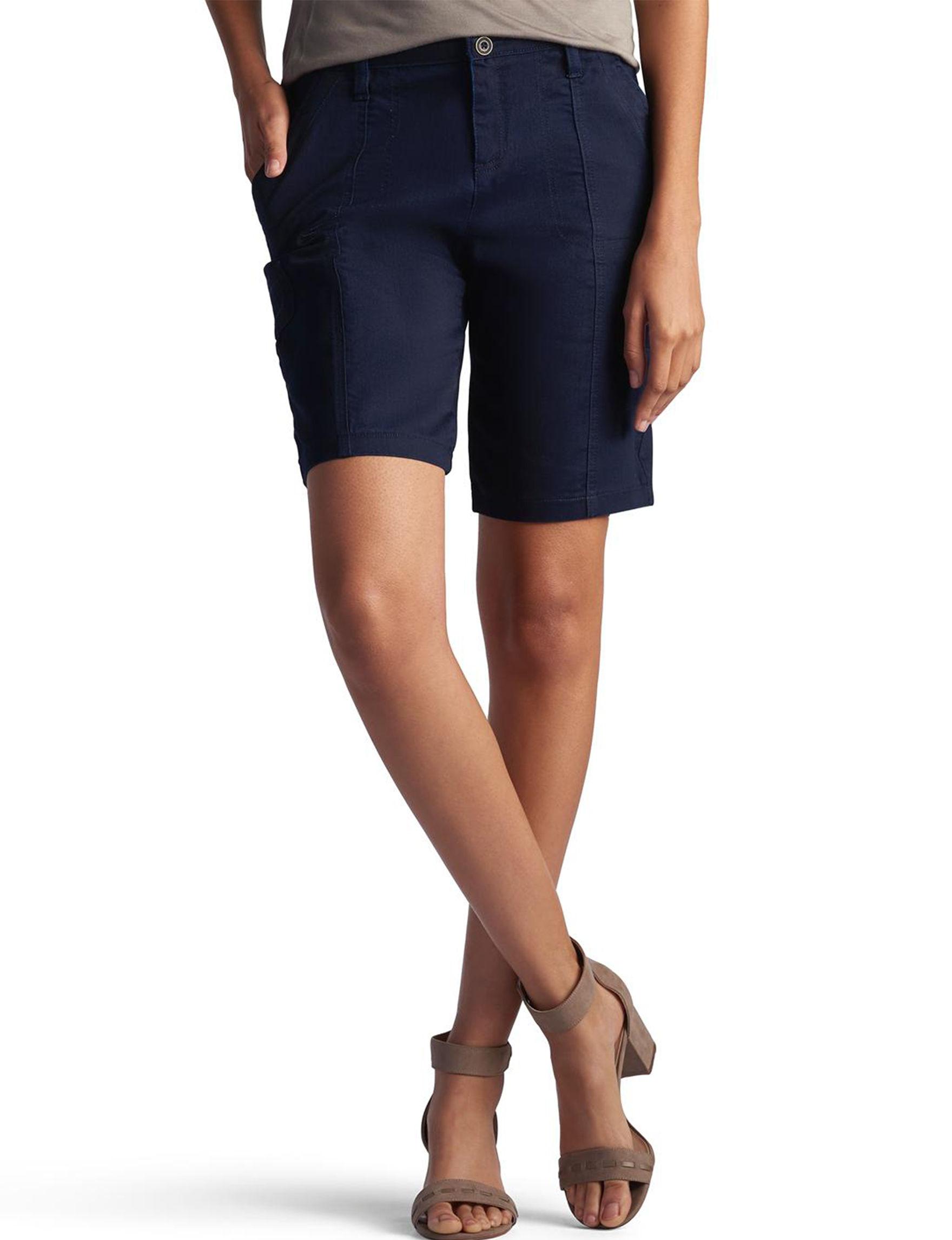 Lee Dark Blue Cargo Tailored Shorts