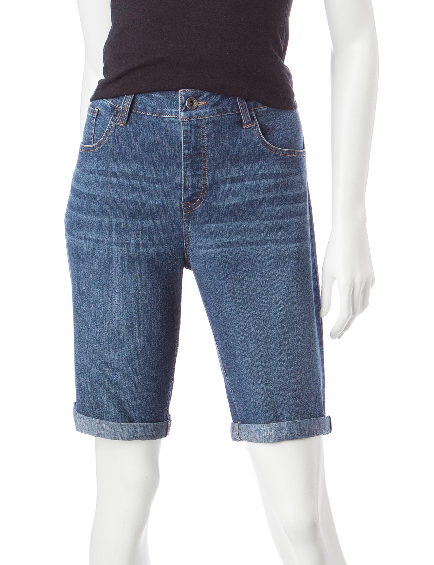 Hannah Dark Blue Bermudas Denim Shorts