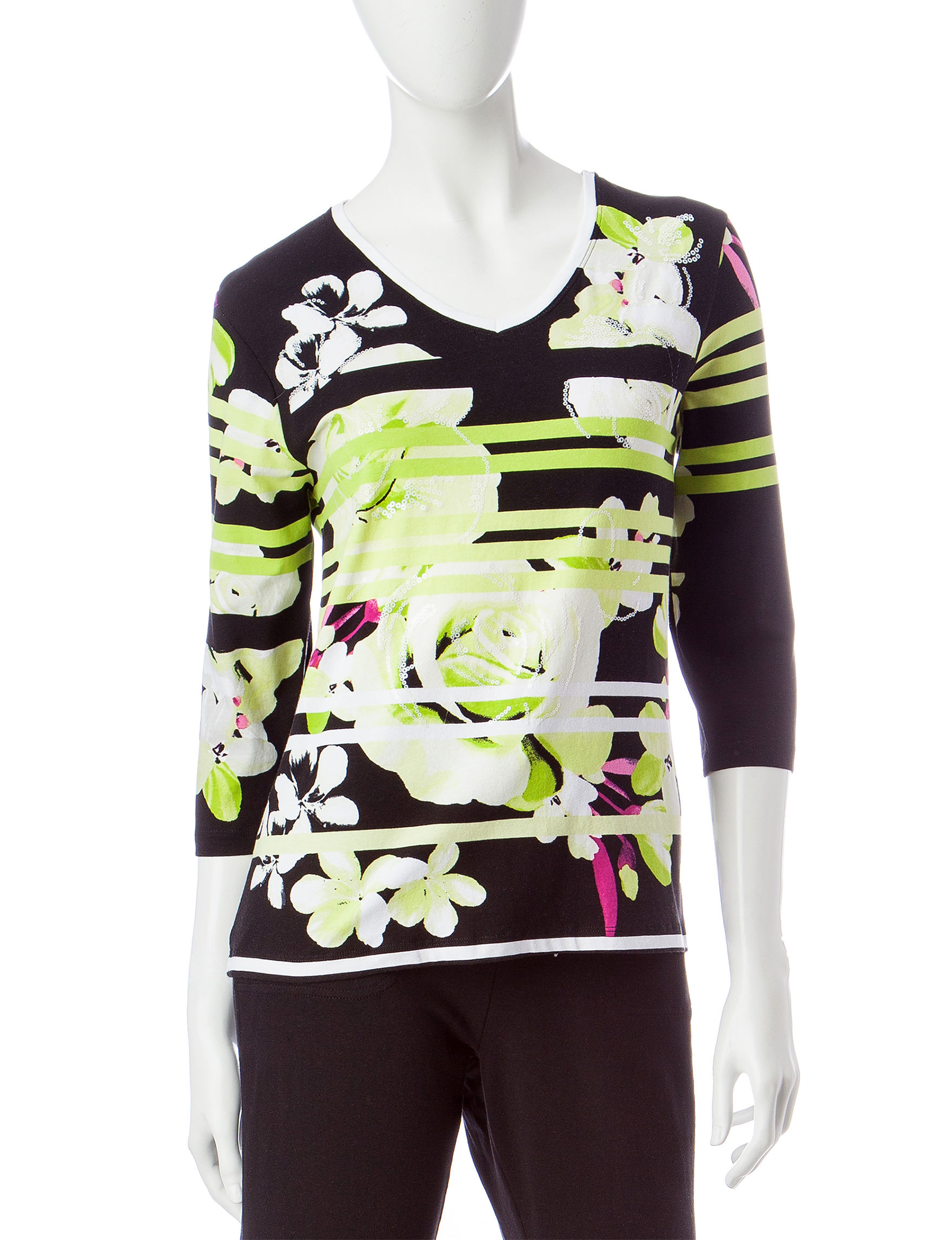 Onque Casuals Lime Shirts & Blouses