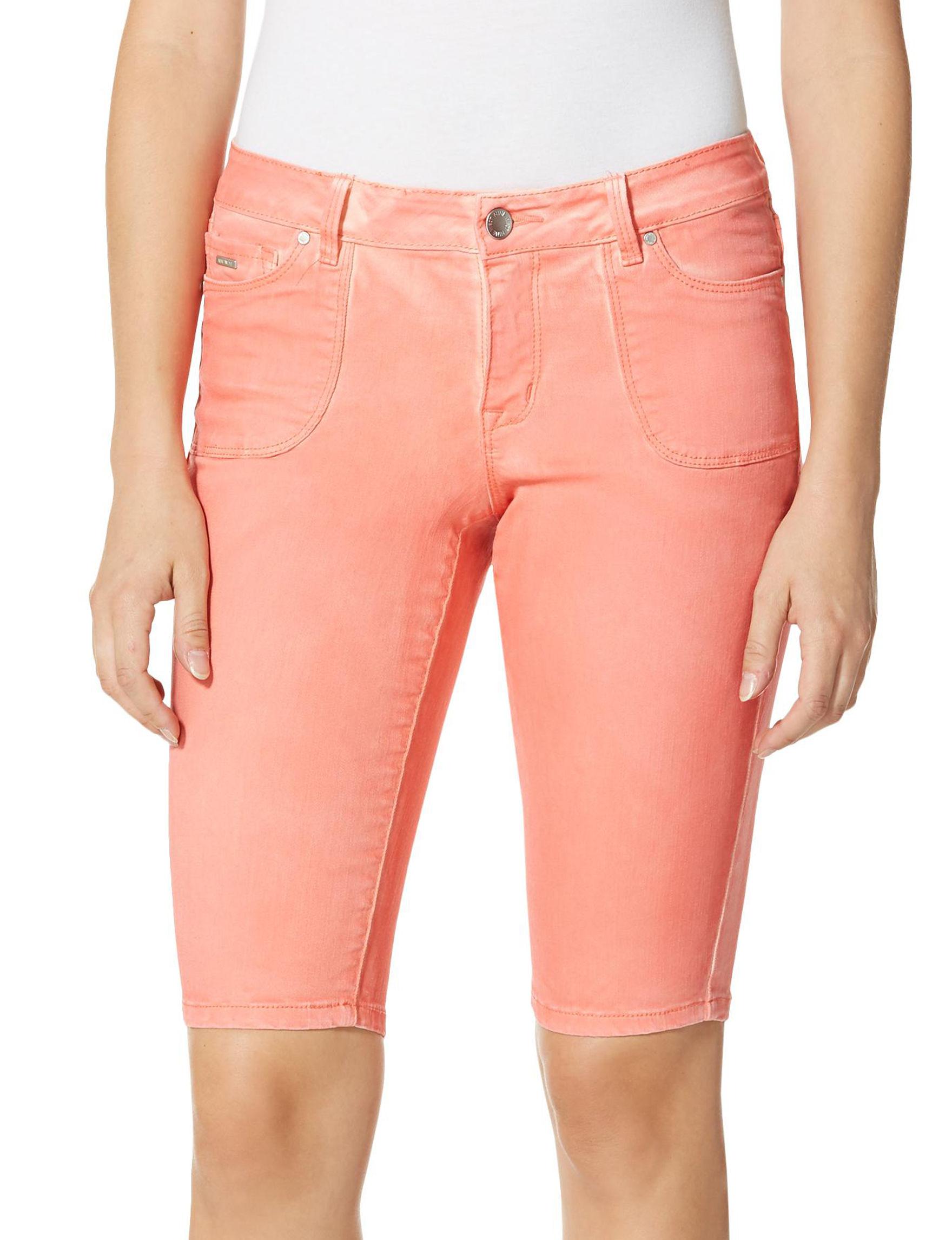 Nine West Jeans Orange Denim Shorts