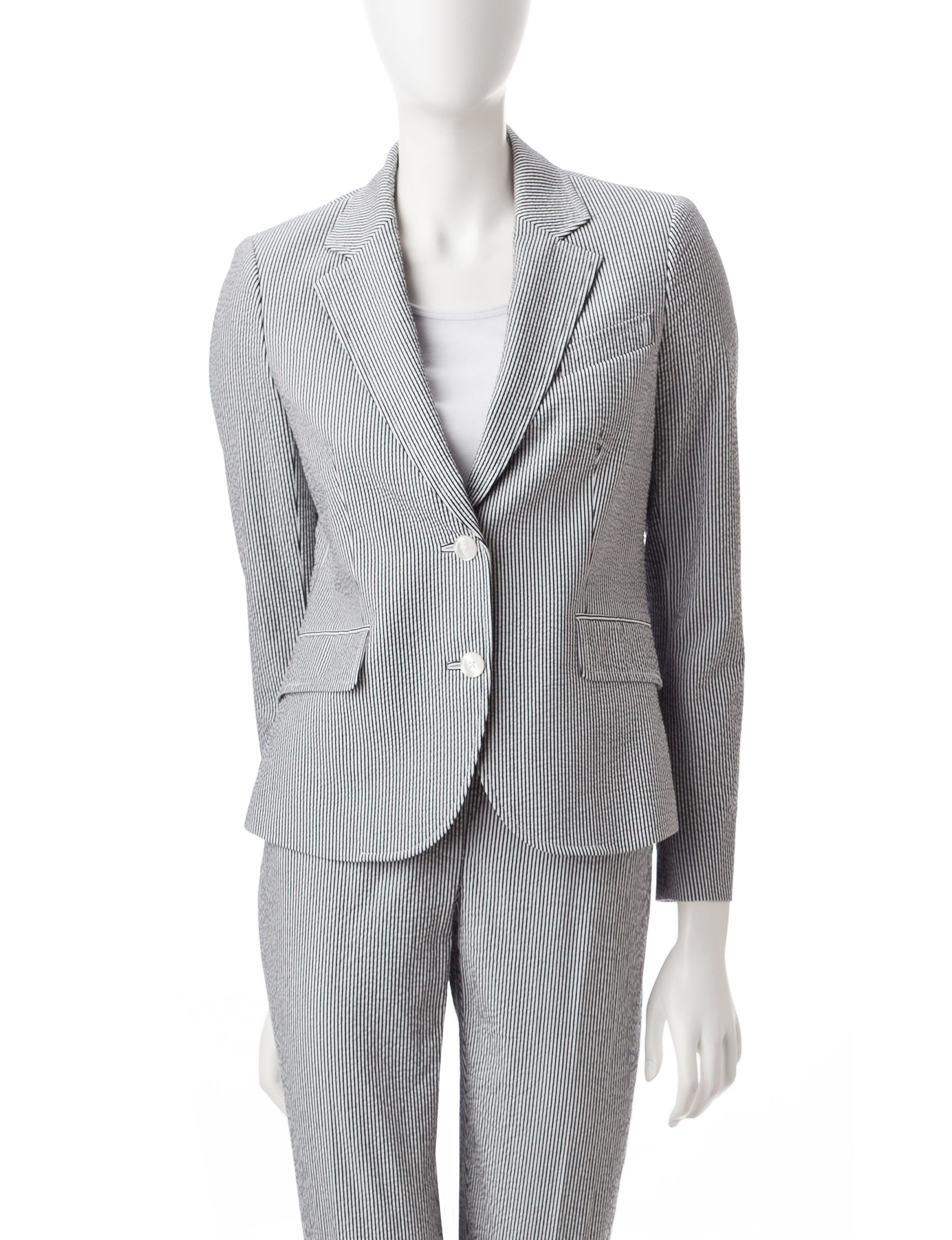 Anne Klein Black / White Lightweight Jackets & Blazers