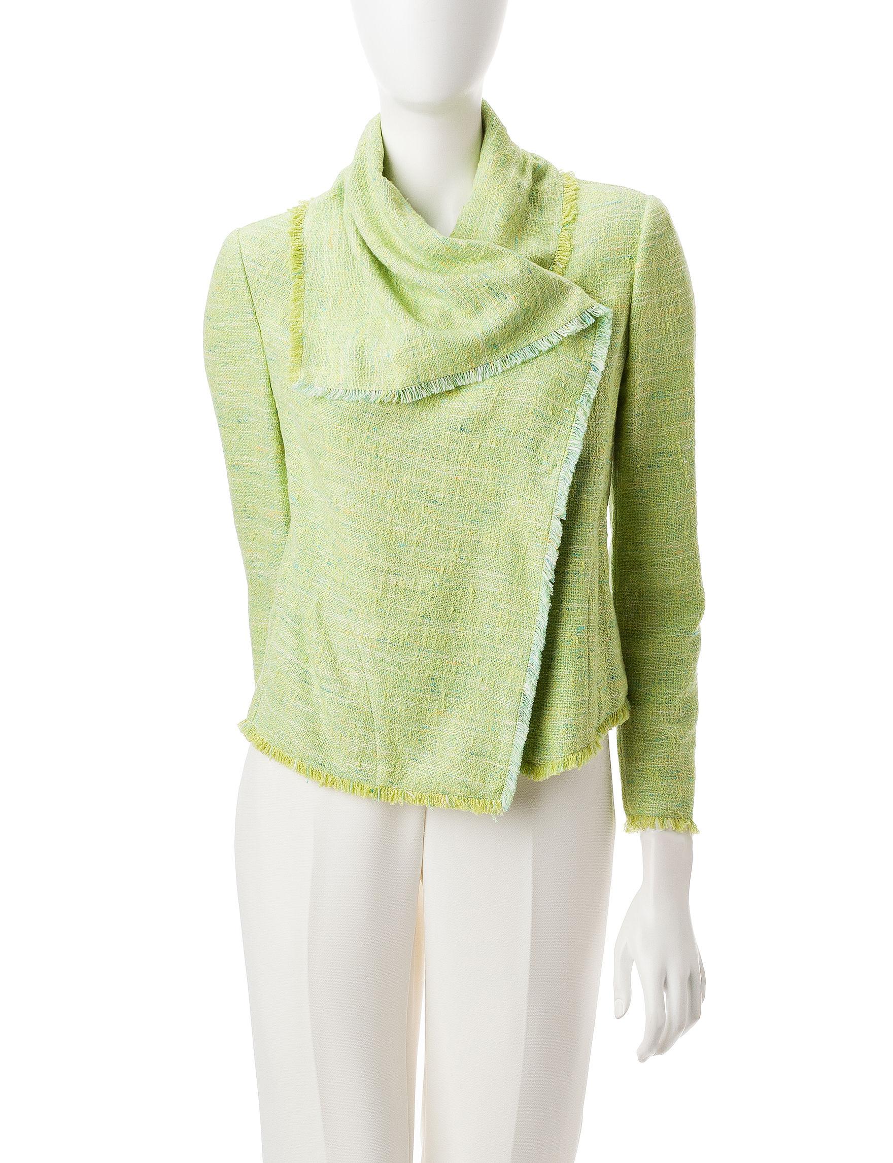 Anne Klein Green Lightweight Jackets & Blazers