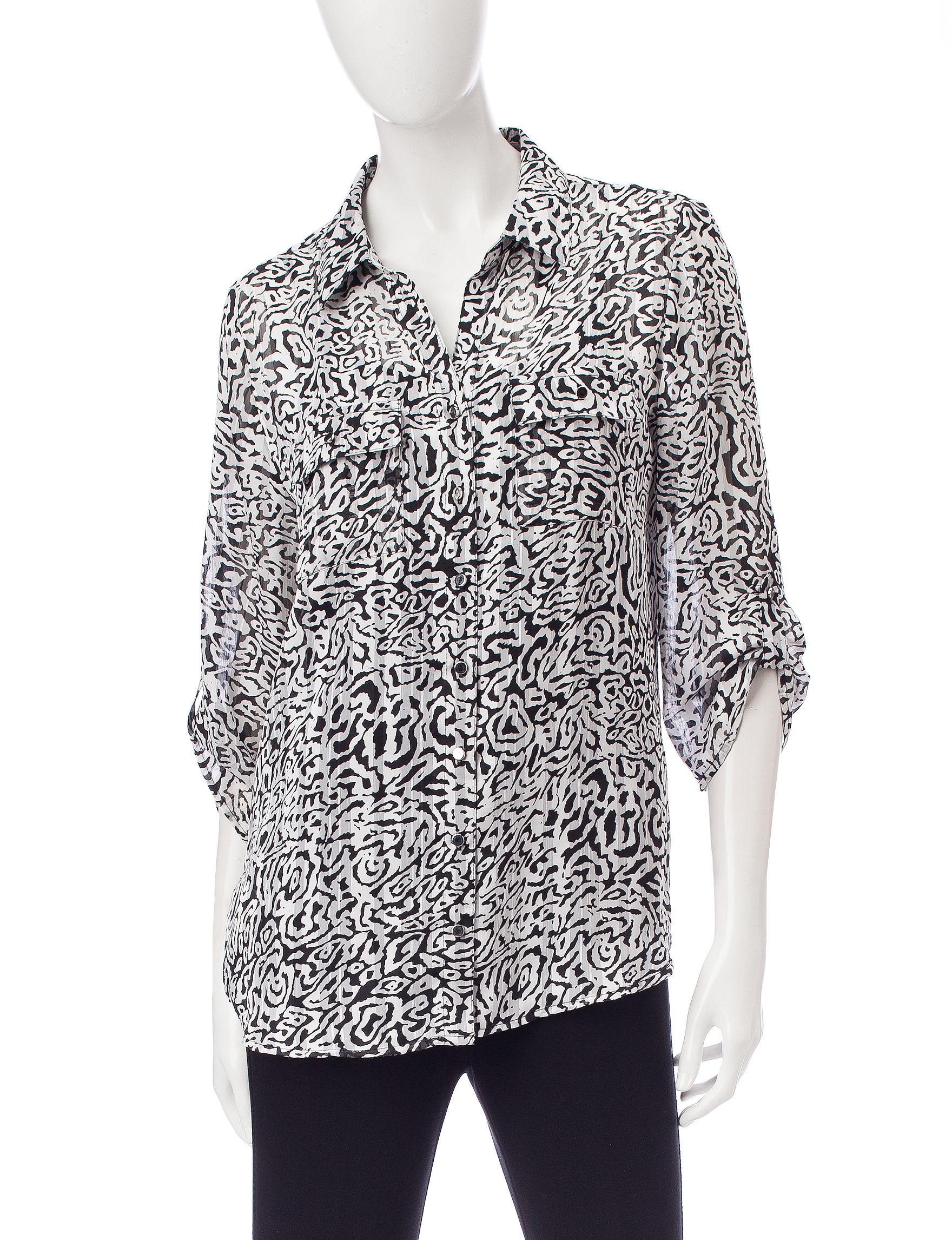Sara Michelle White / Black Shirts & Blouses