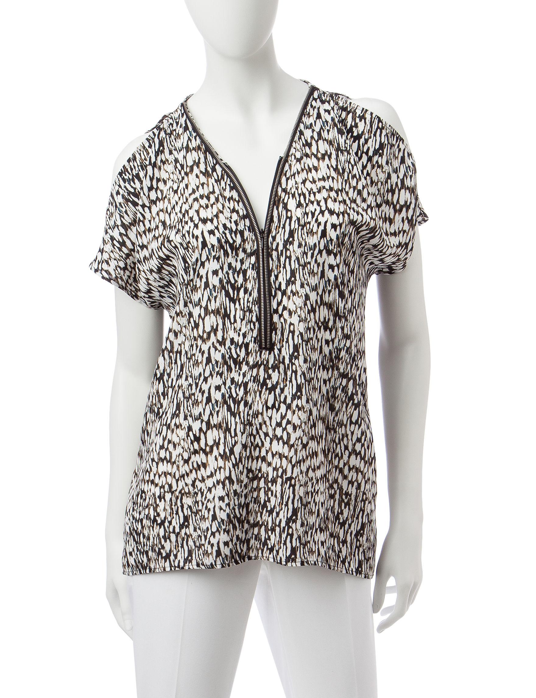 Valerie Stevens Black / Ivory Shirts & Blouses