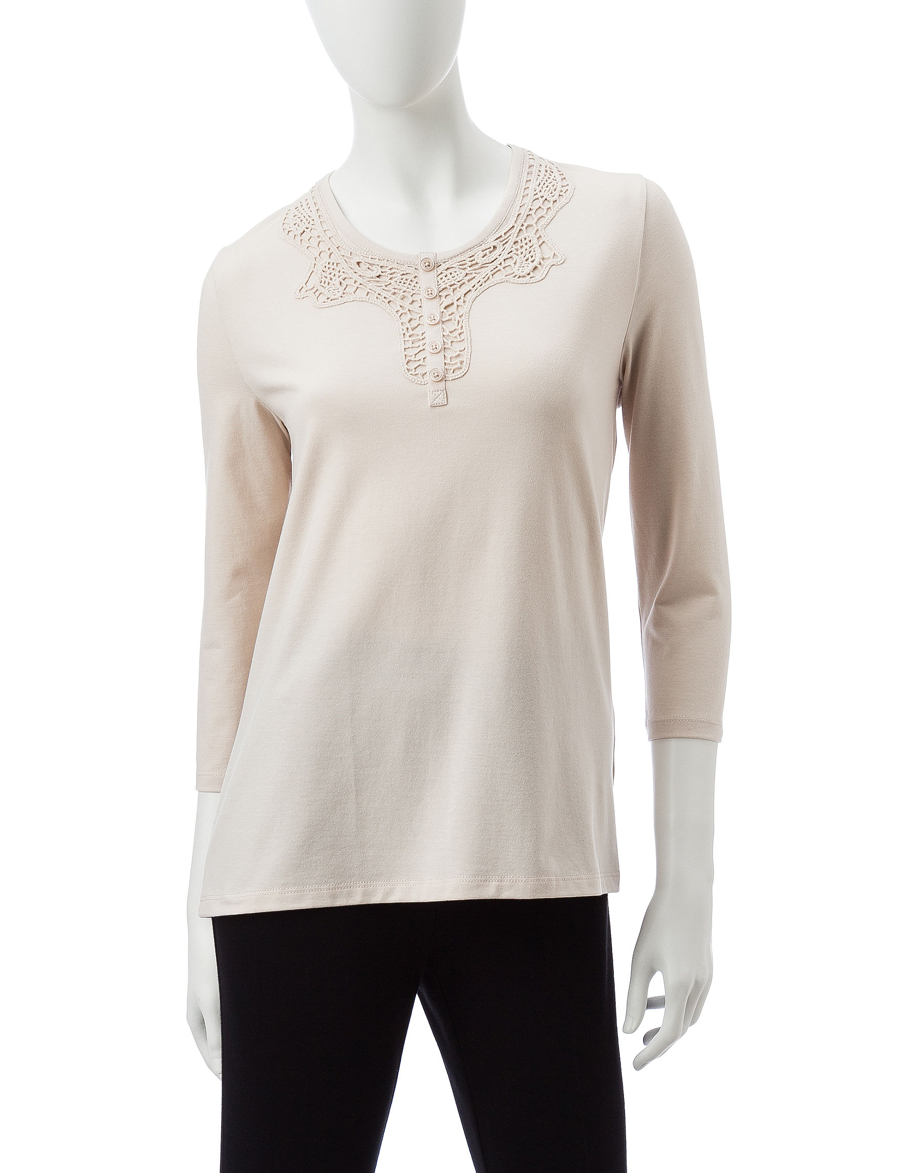 Rebecca Malone Oatmeal Shirts & Blouses