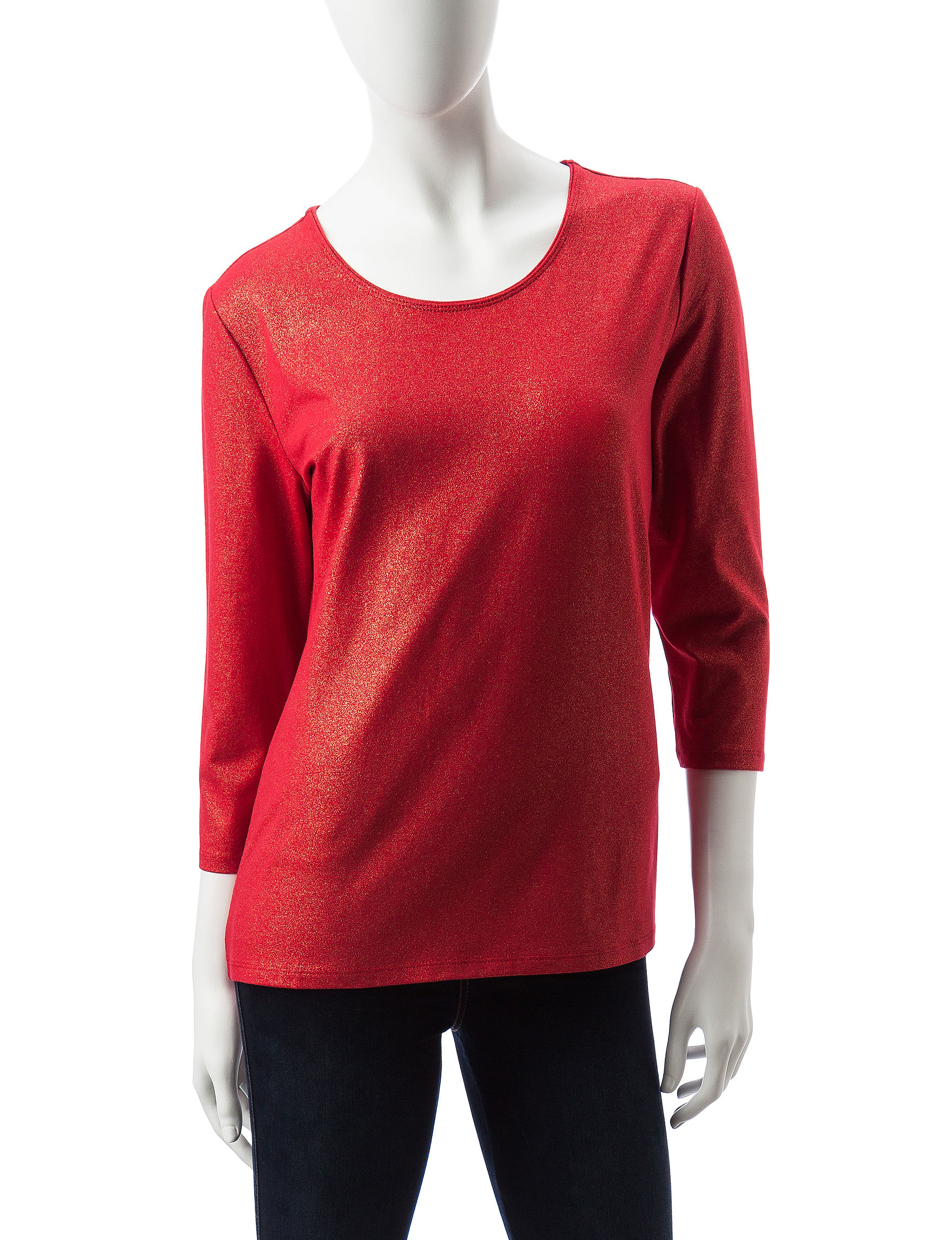 Rebecca Malone Red / Gold Shirts & Blouses