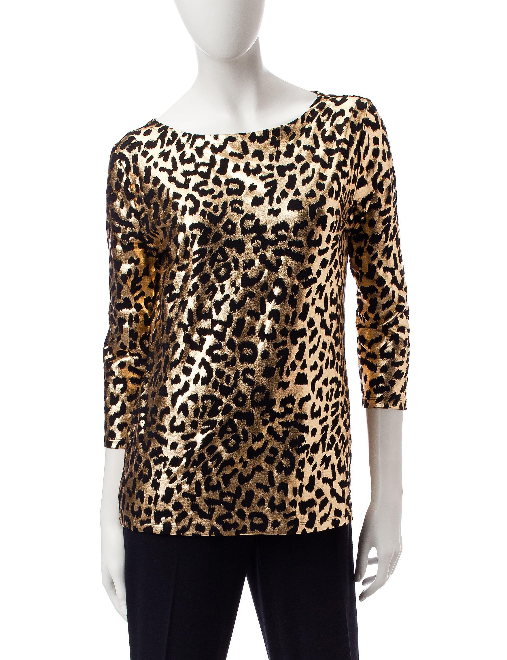 Rebecca Malone Gold / Black Shirts & Blouses
