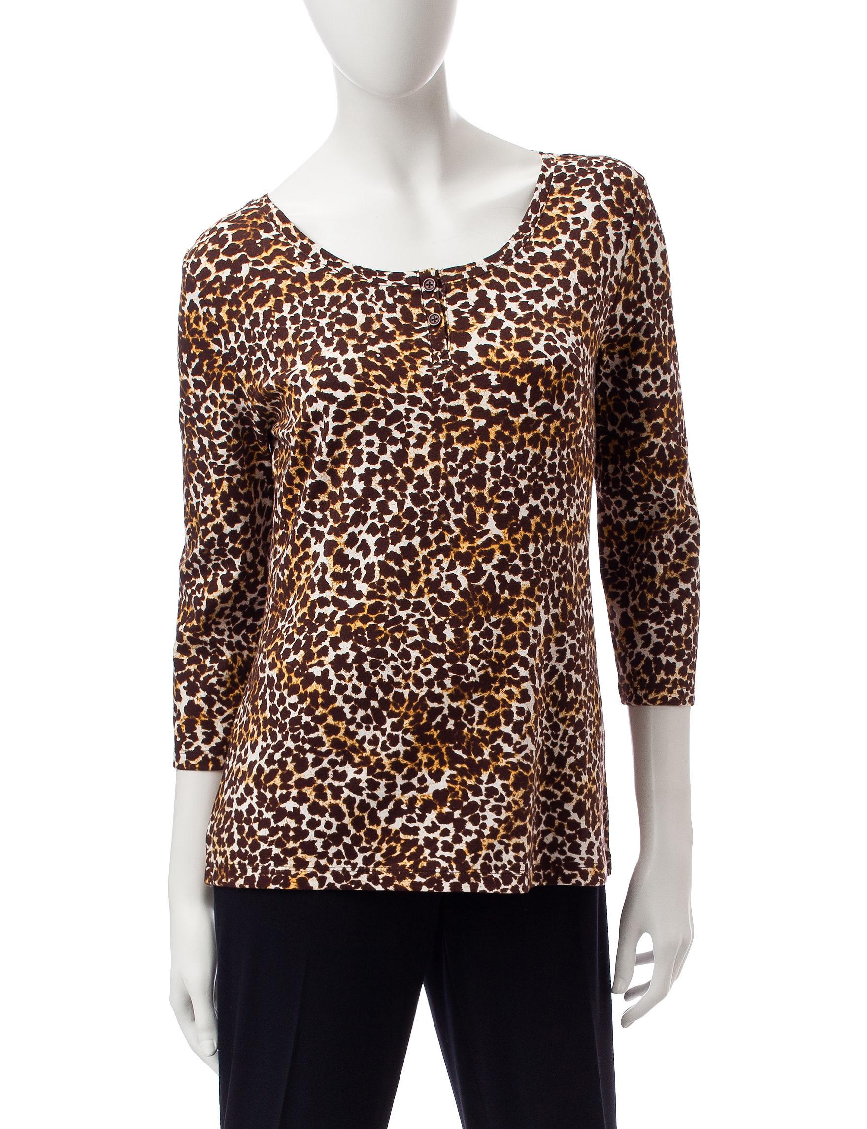 Rebecca Malone Brown Shirts & Blouses