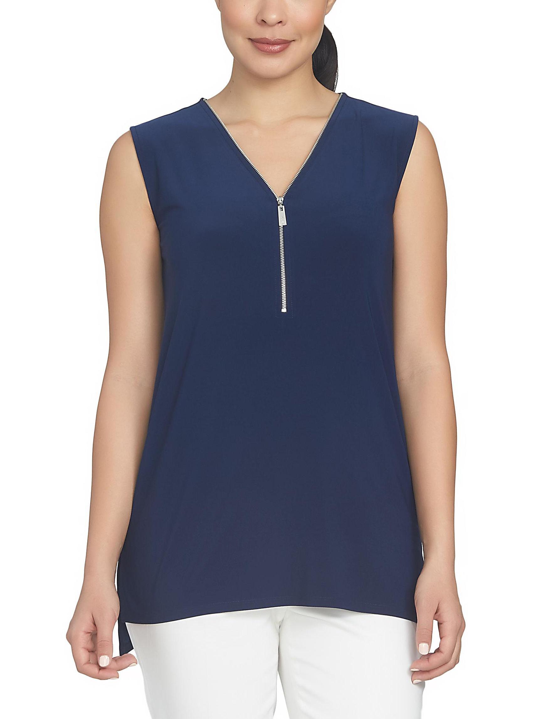 Chaus Navy Shirts & Blouses