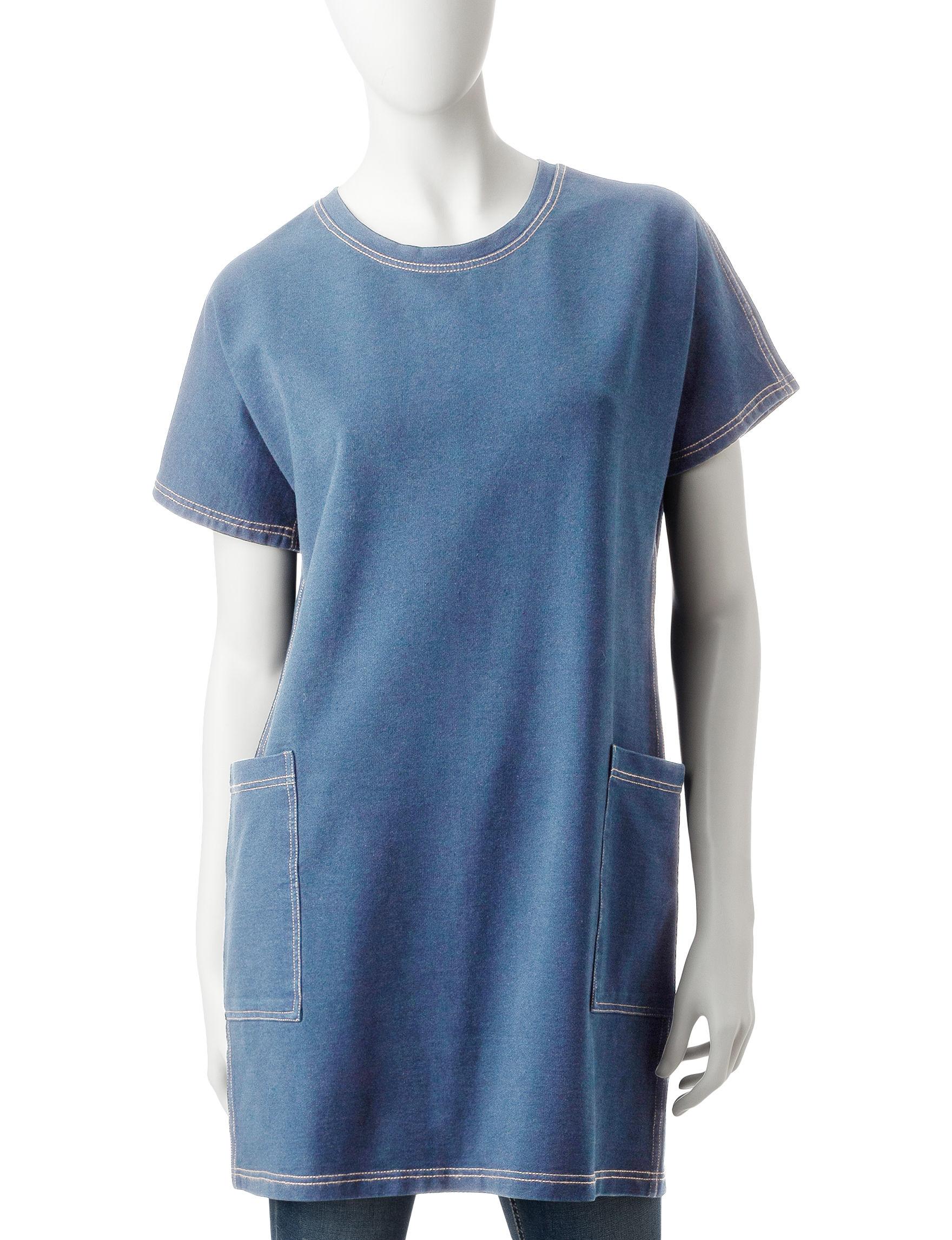 Hannah Denim Blue Shirts & Blouses