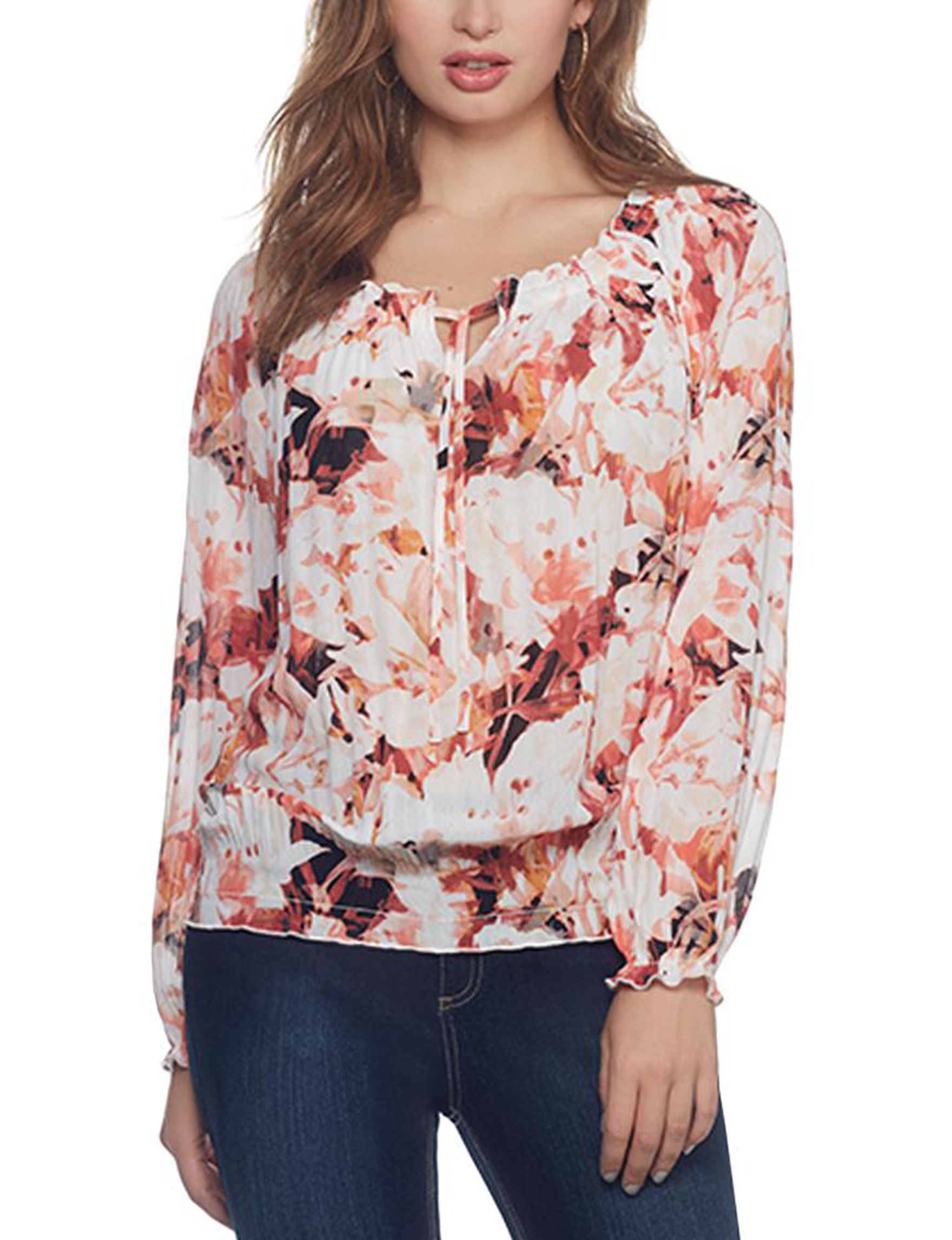 Skyes The Limit Orange Multi Shirts & Blouses