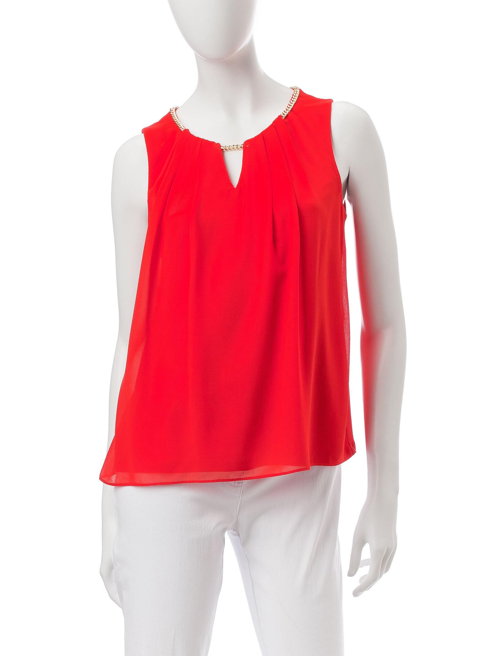 Calvin Klein Red Shirts & Blouses