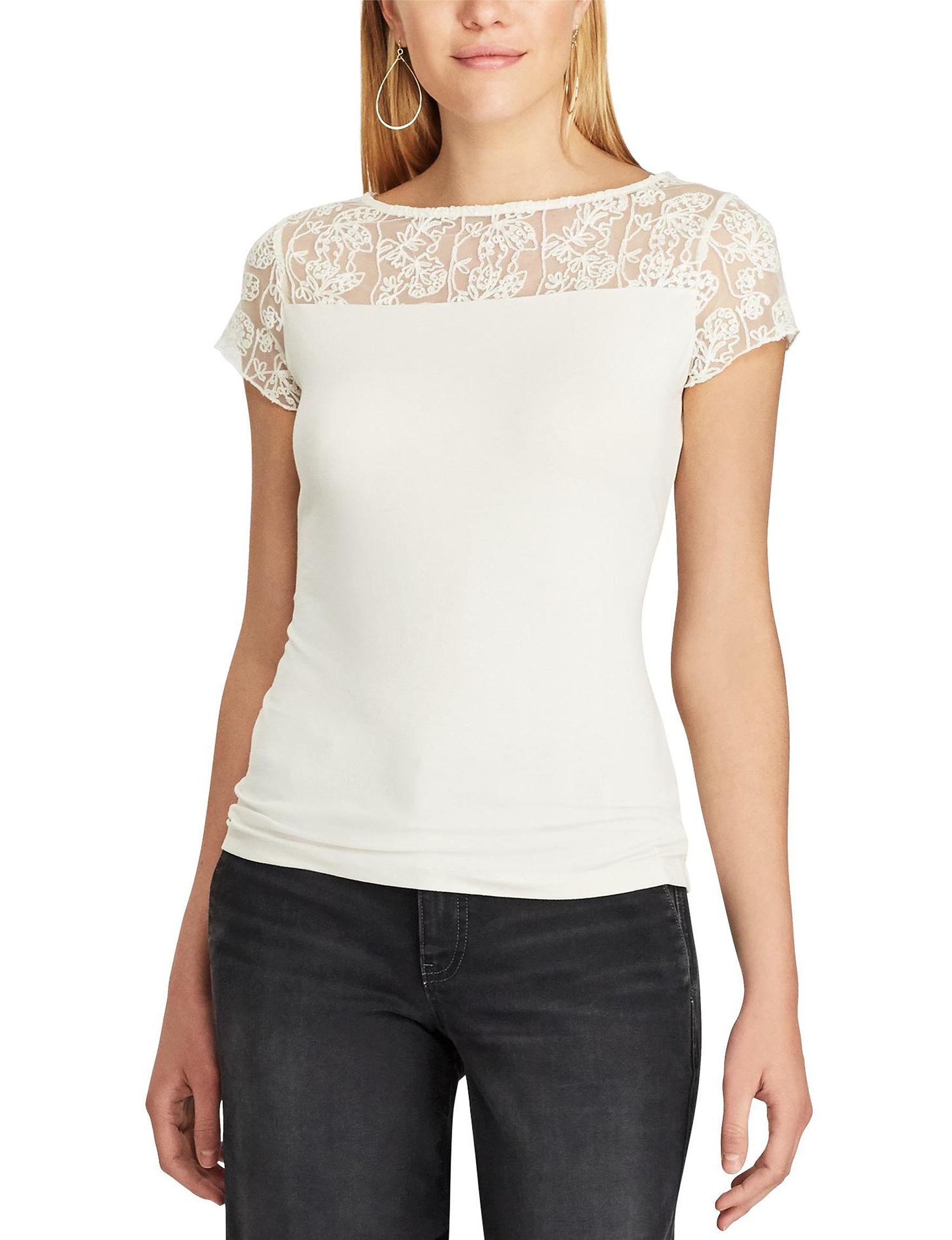 Chaps White Shirts & Blouses Tees & Tanks
