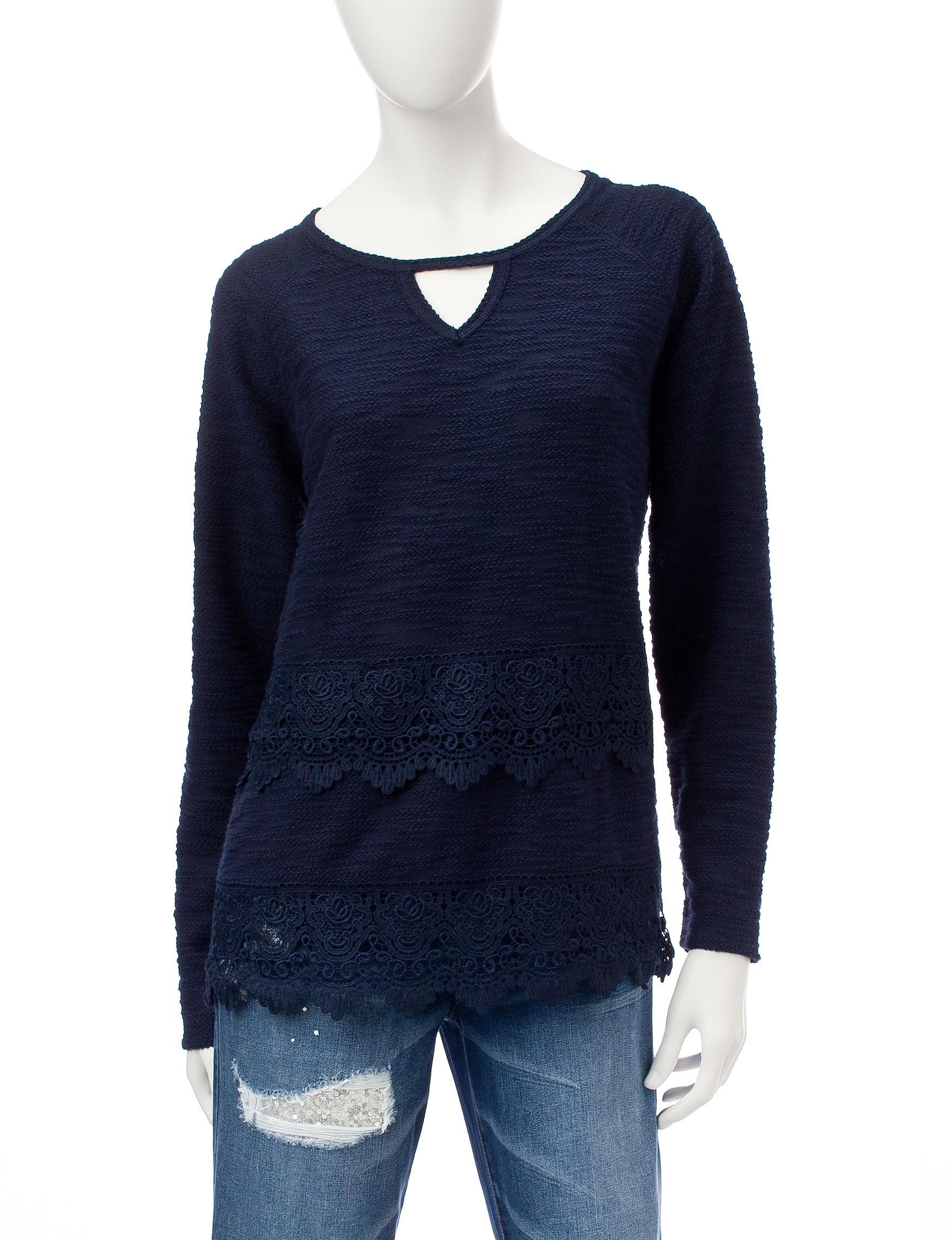 Hannah Navy Shirts & Blouses