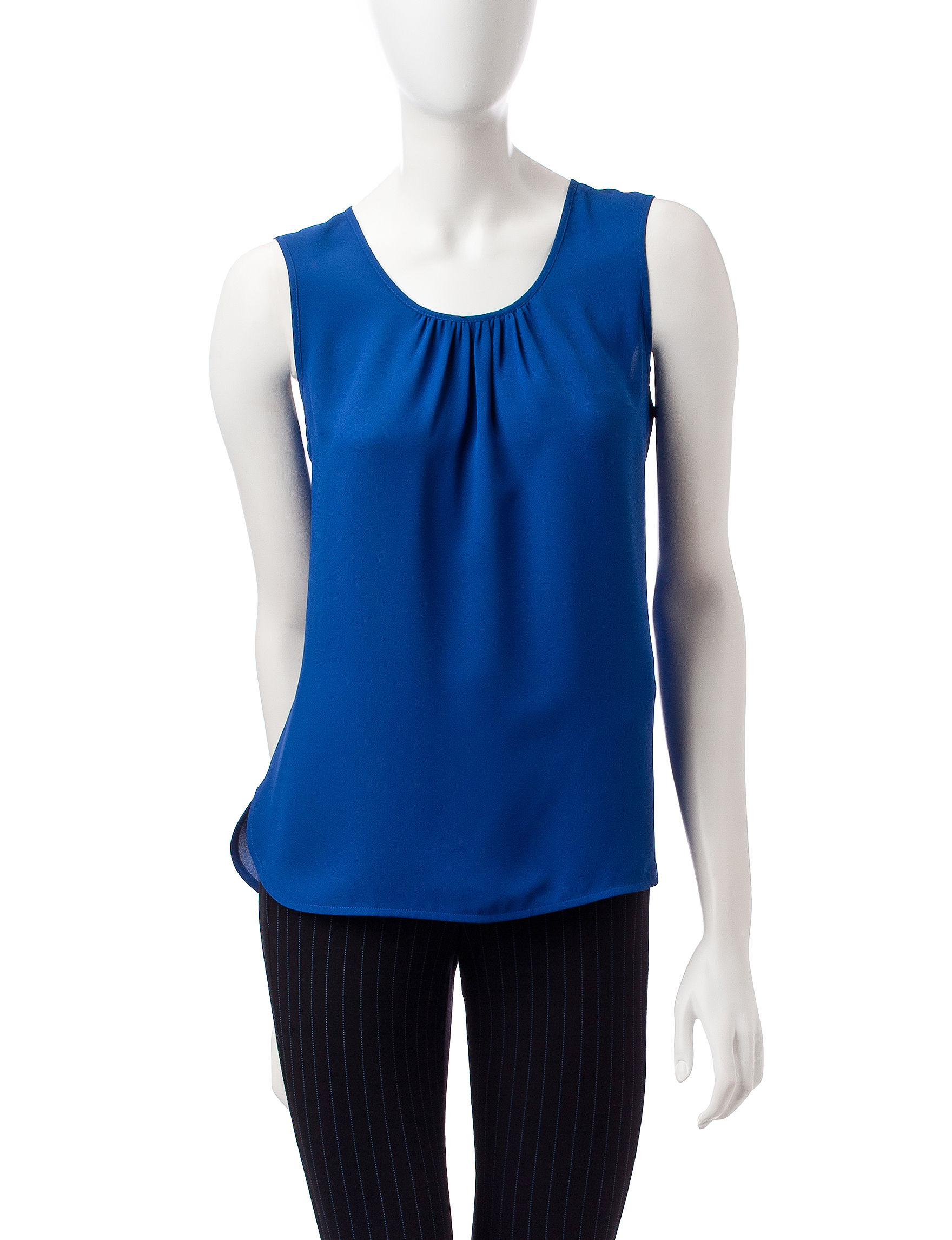 Anne Klein Shirred Woven Top Stage Stores