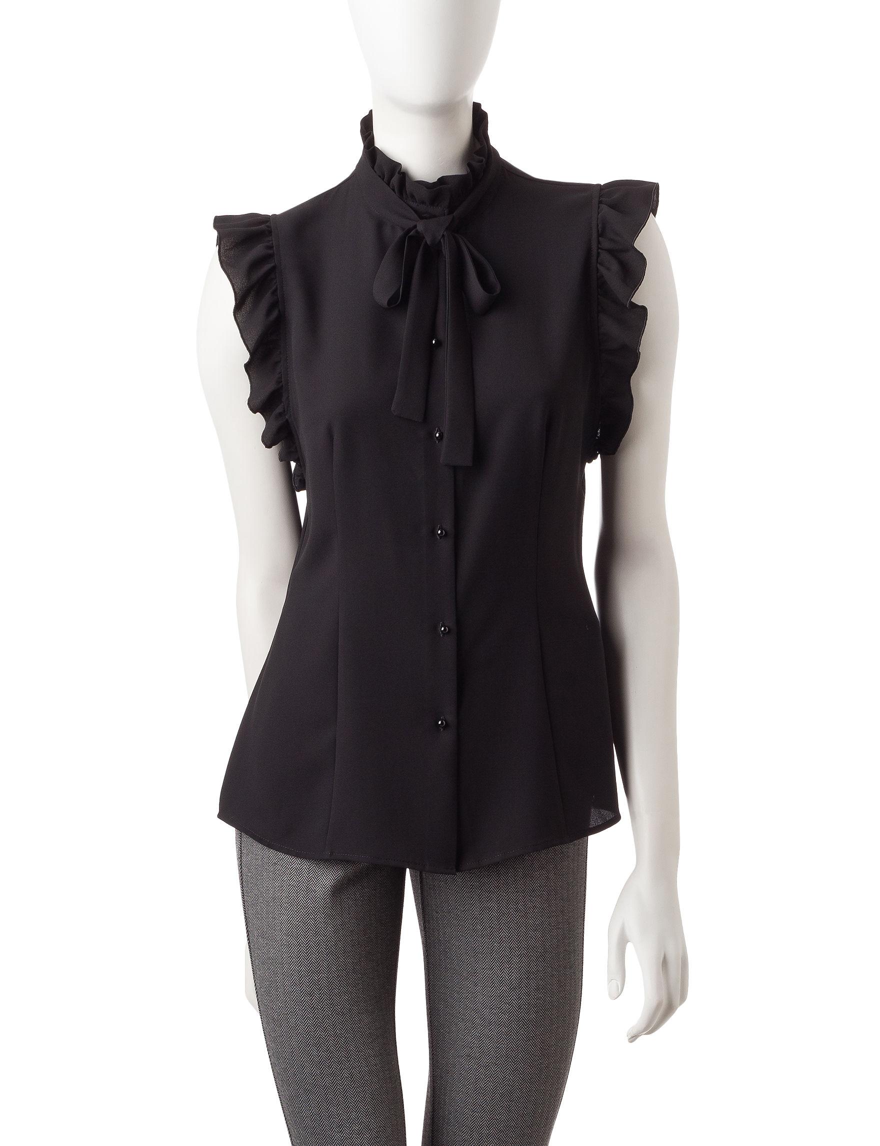 Anne Klein Black Shirts & Blouses
