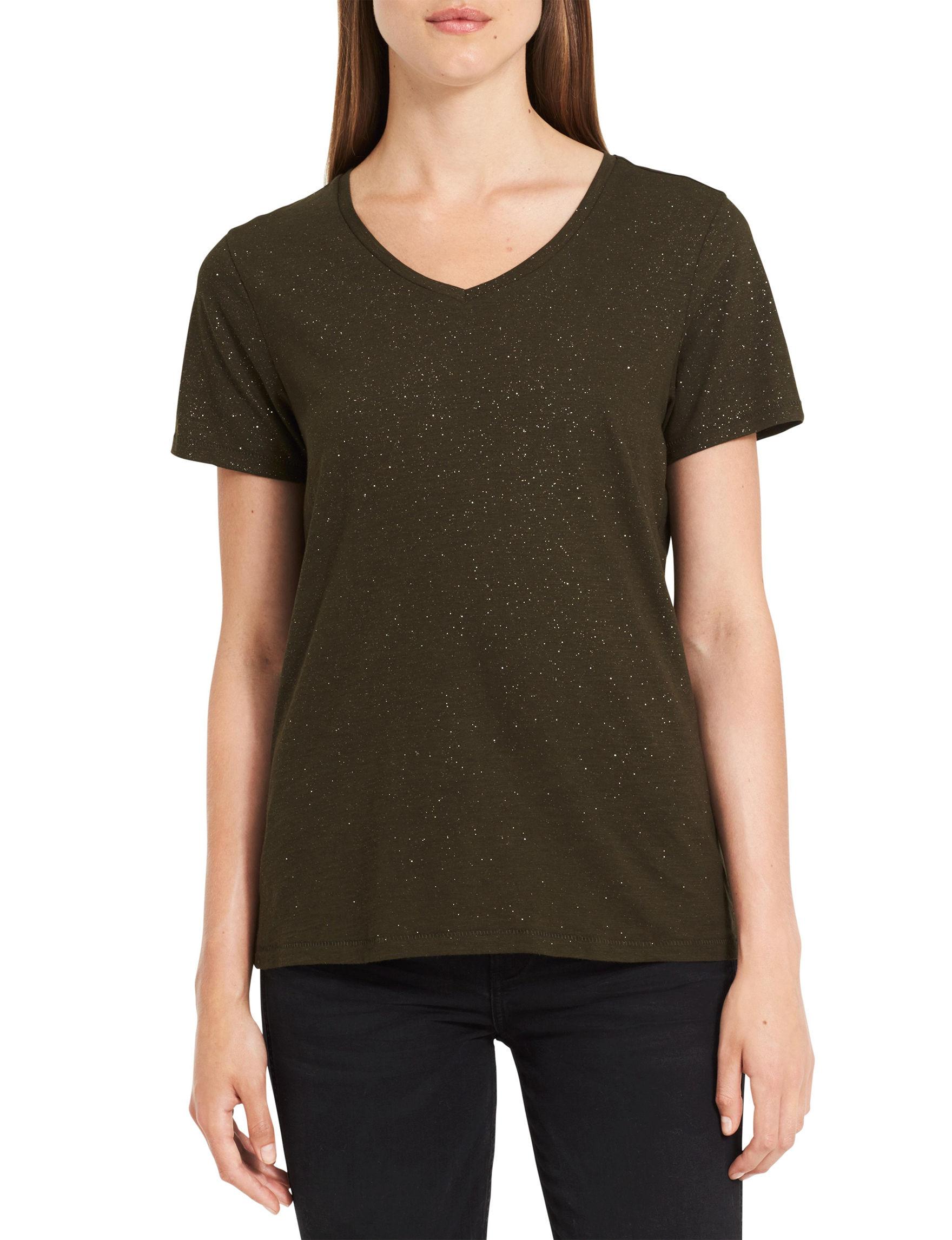Calvin Klein Jeans Green Tees & Tanks