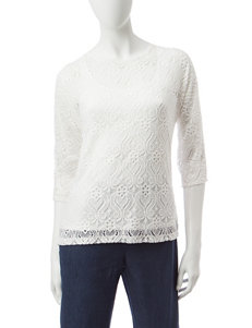 Ruby Road Alabaster Pull-overs Shirts & Blouses