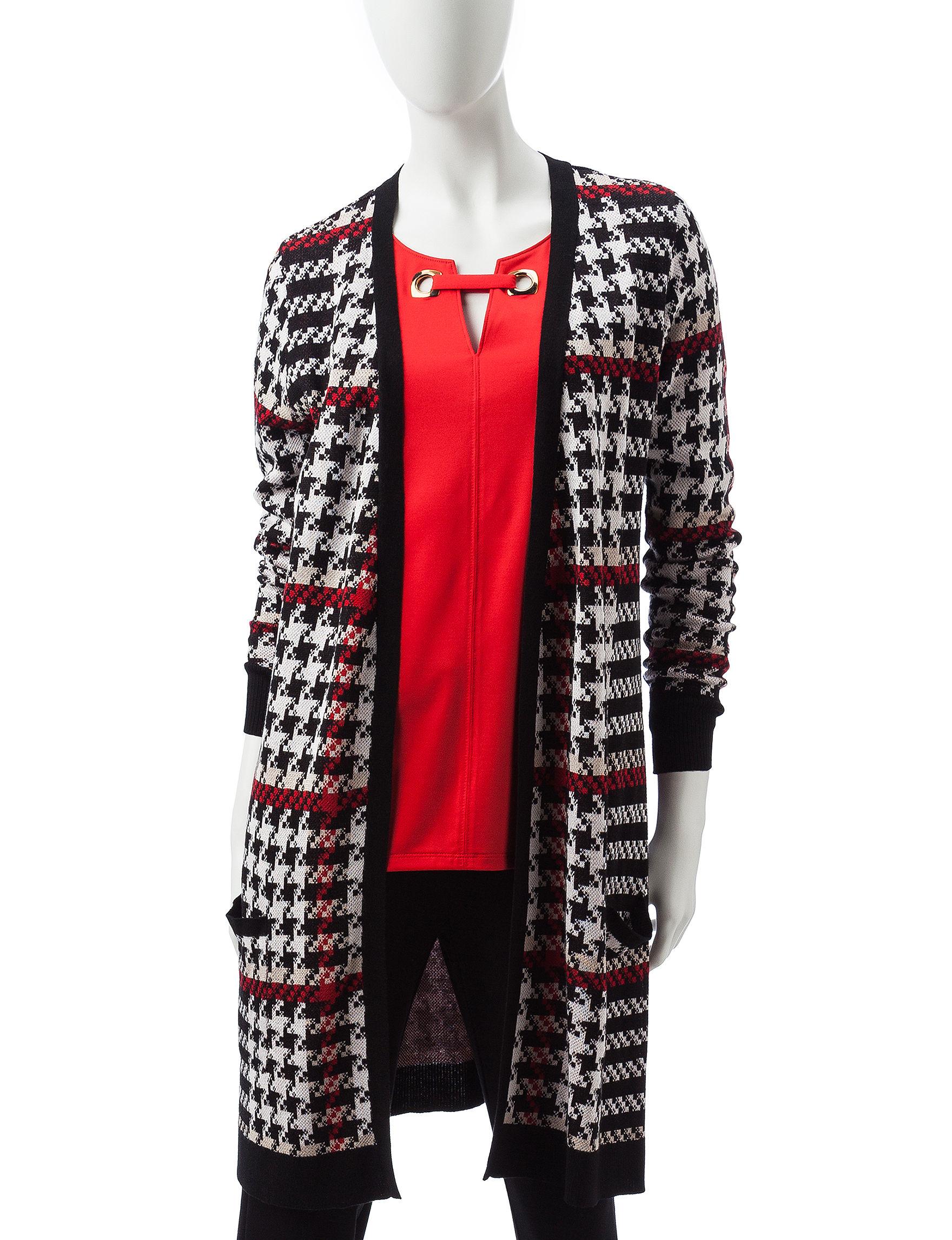 Valerie Stevens Red Cardigans Sweaters
