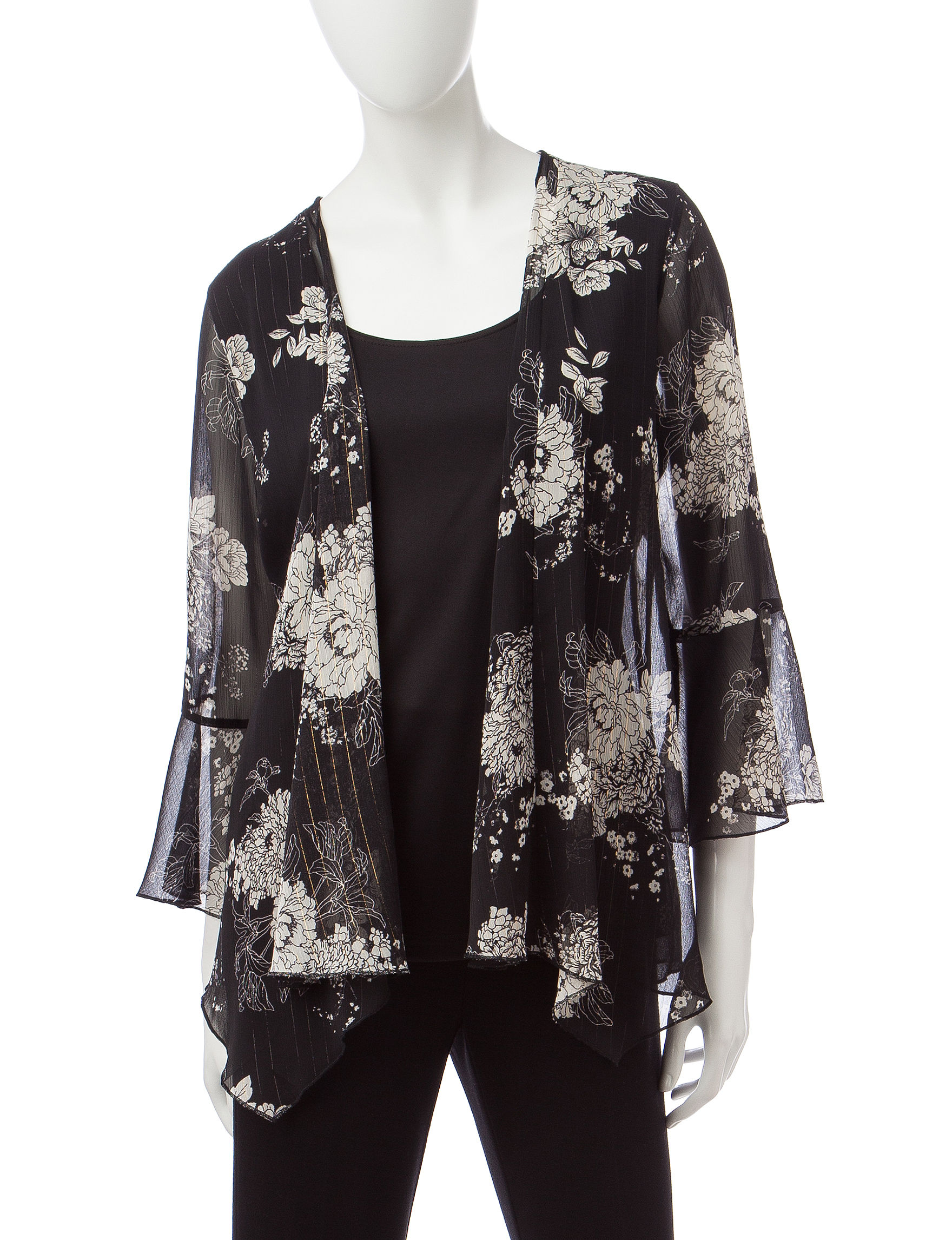 Sara Michelle Black Shirts & Blouses