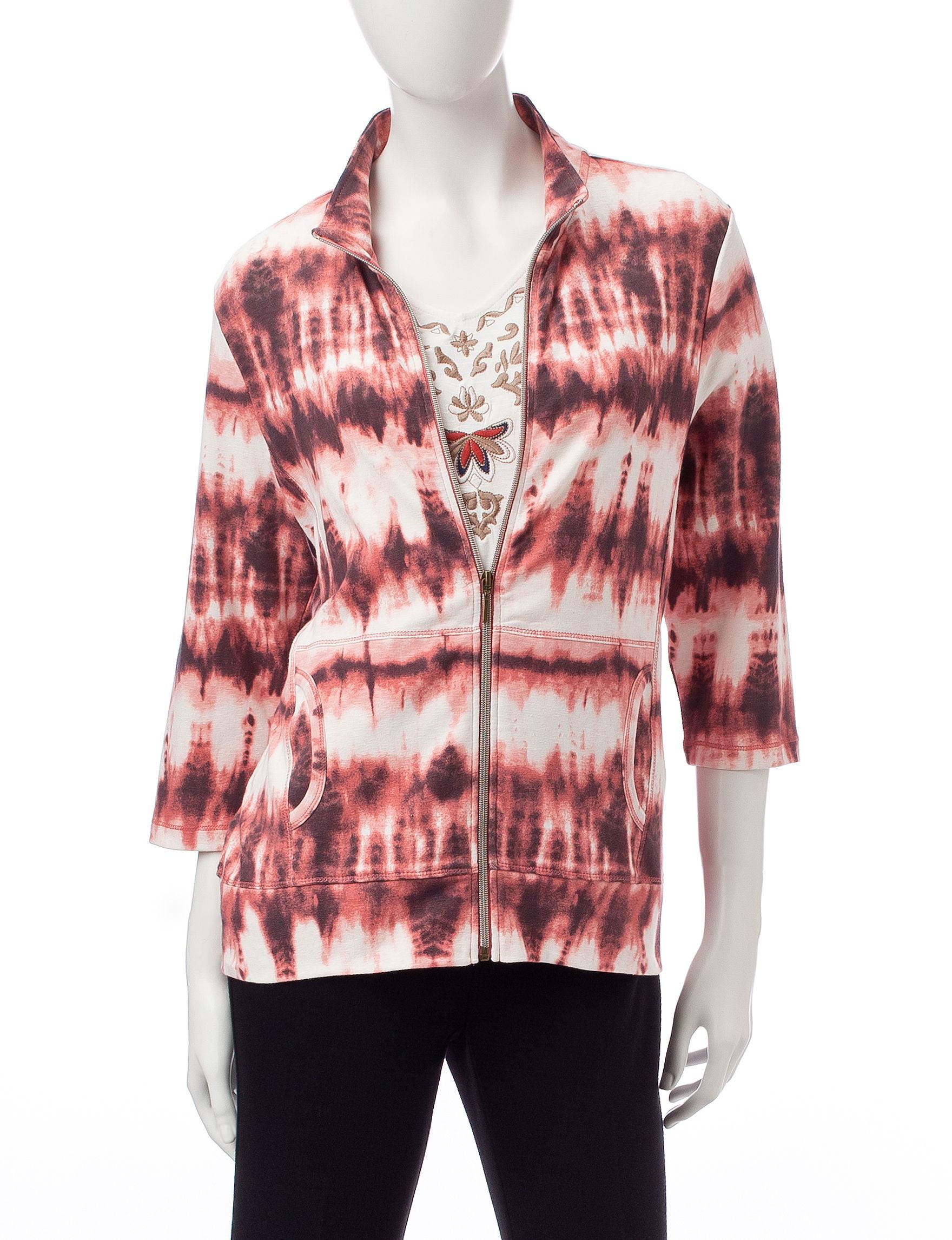 Onque Casuals Pink Lightweight Jackets & Blazers