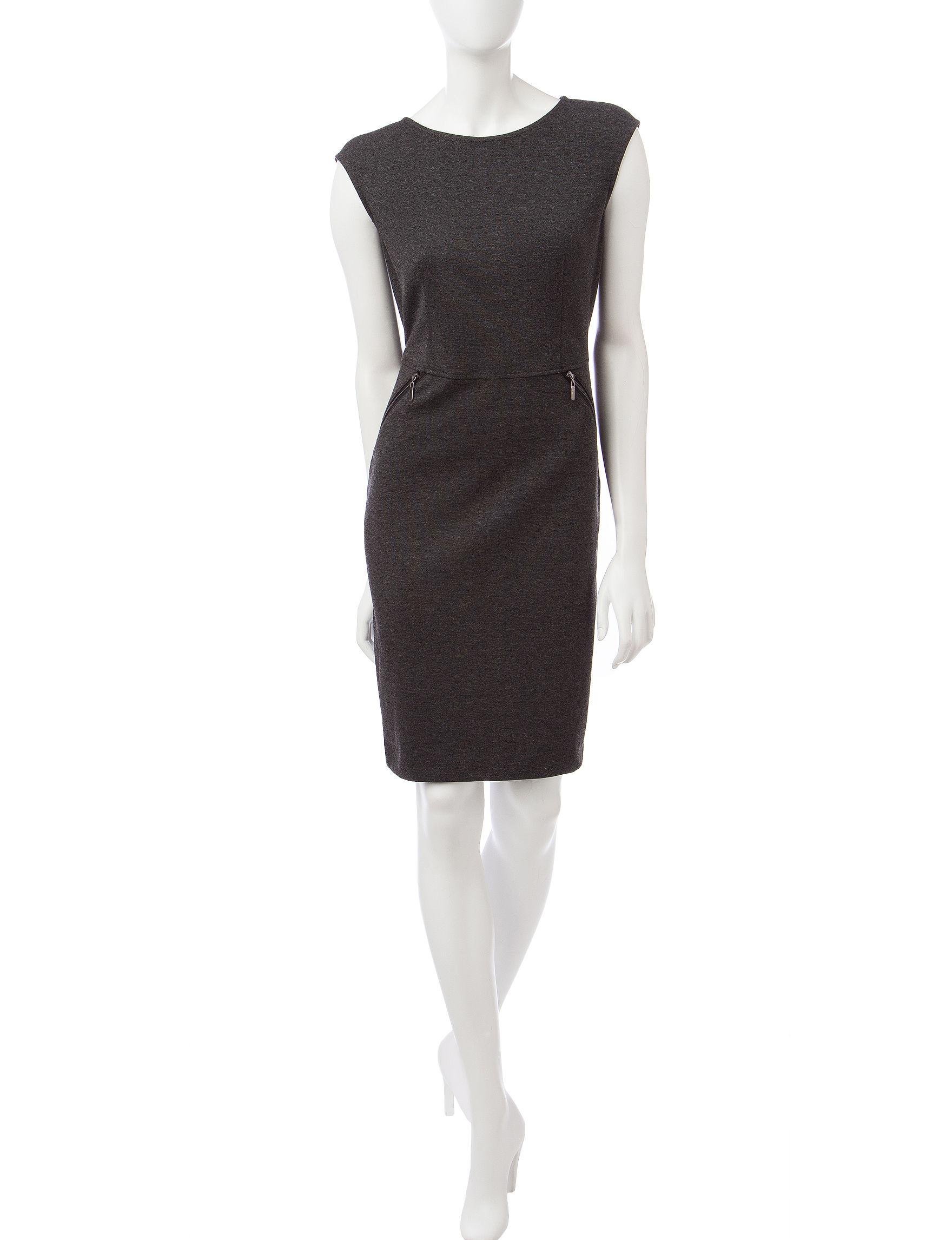 Kasper Charcoal Everyday & Casual A-line Dresses