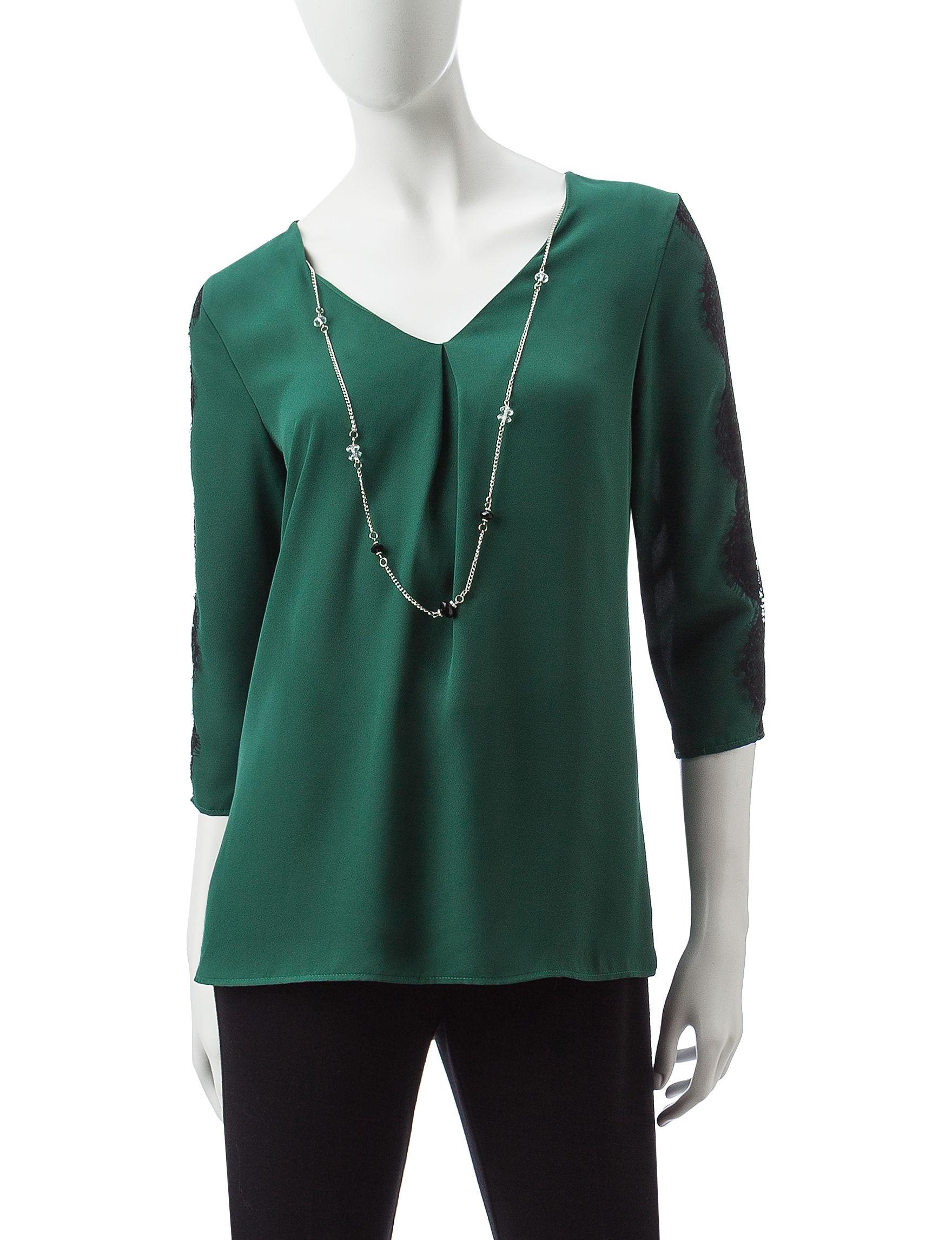 Valerie Stevens Green Pull-overs Shirts & Blouses